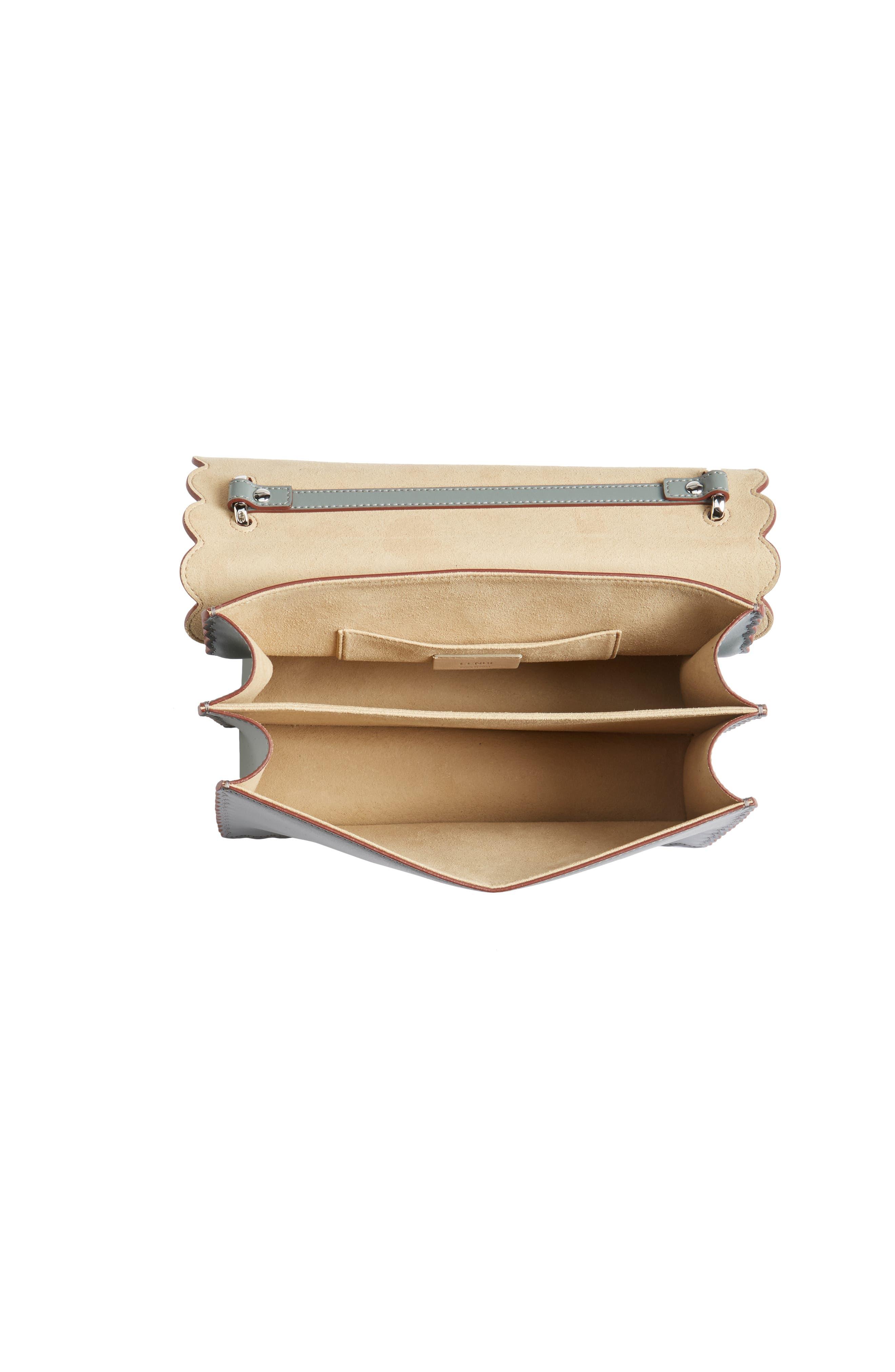 Kan I Scallop Leather Shoulder Bag,                             Alternate thumbnail 4, color,                             348