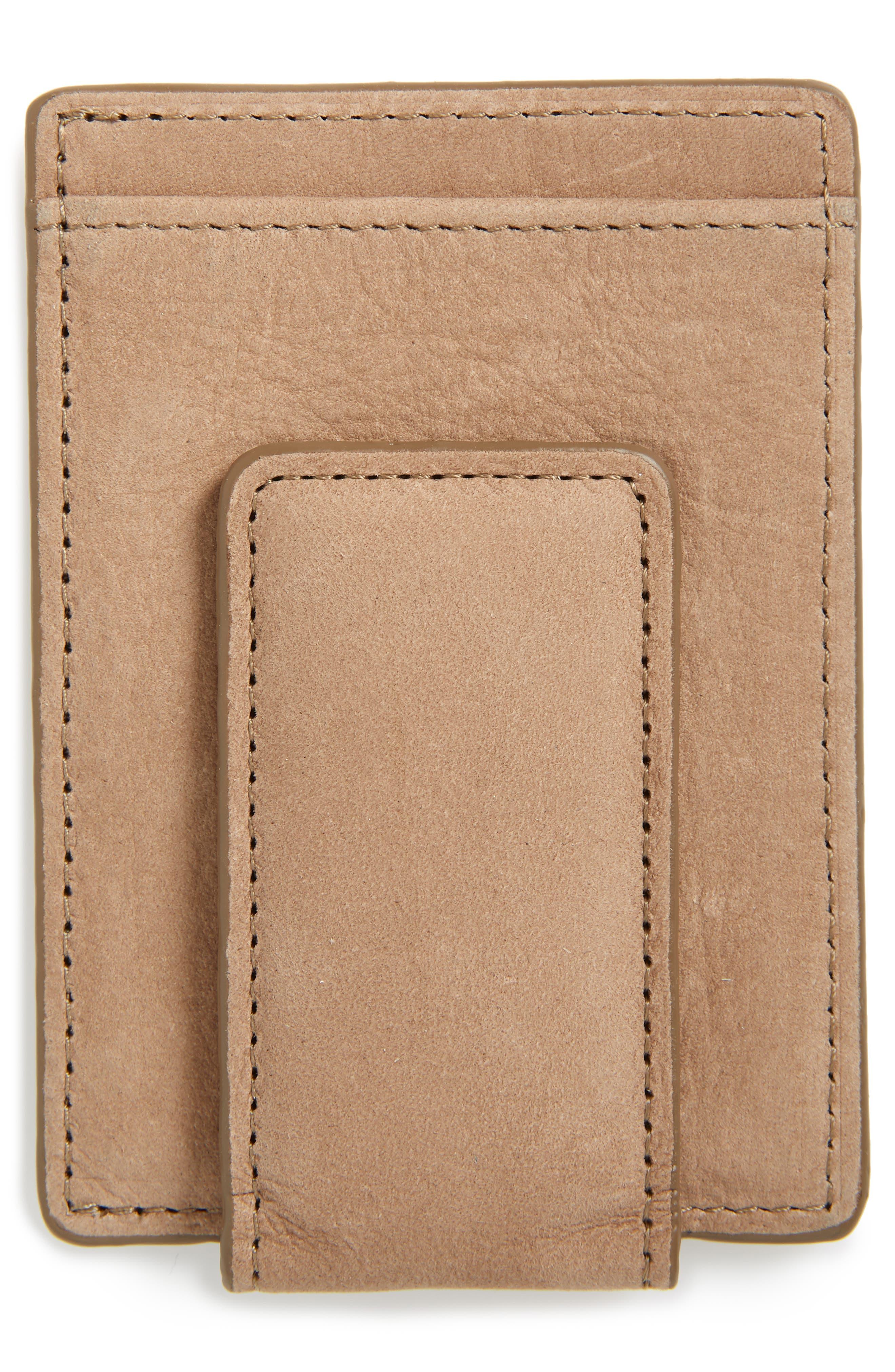 Upton Leather Money Clip Card Case,                             Alternate thumbnail 2, color,                             TAN DUSK