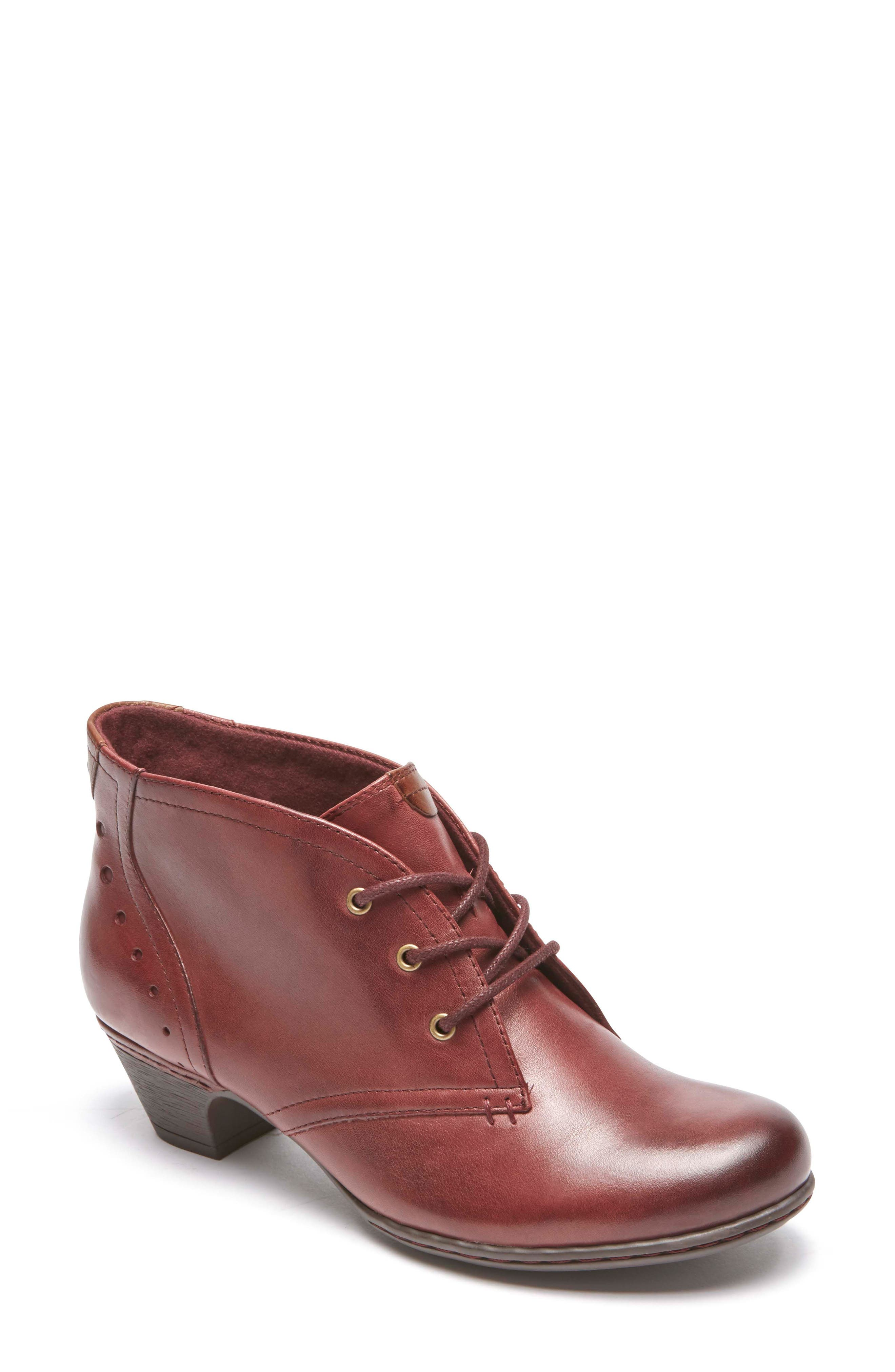 Aria Leather Boot,                         Main,                         color, MERLOT LEATHER