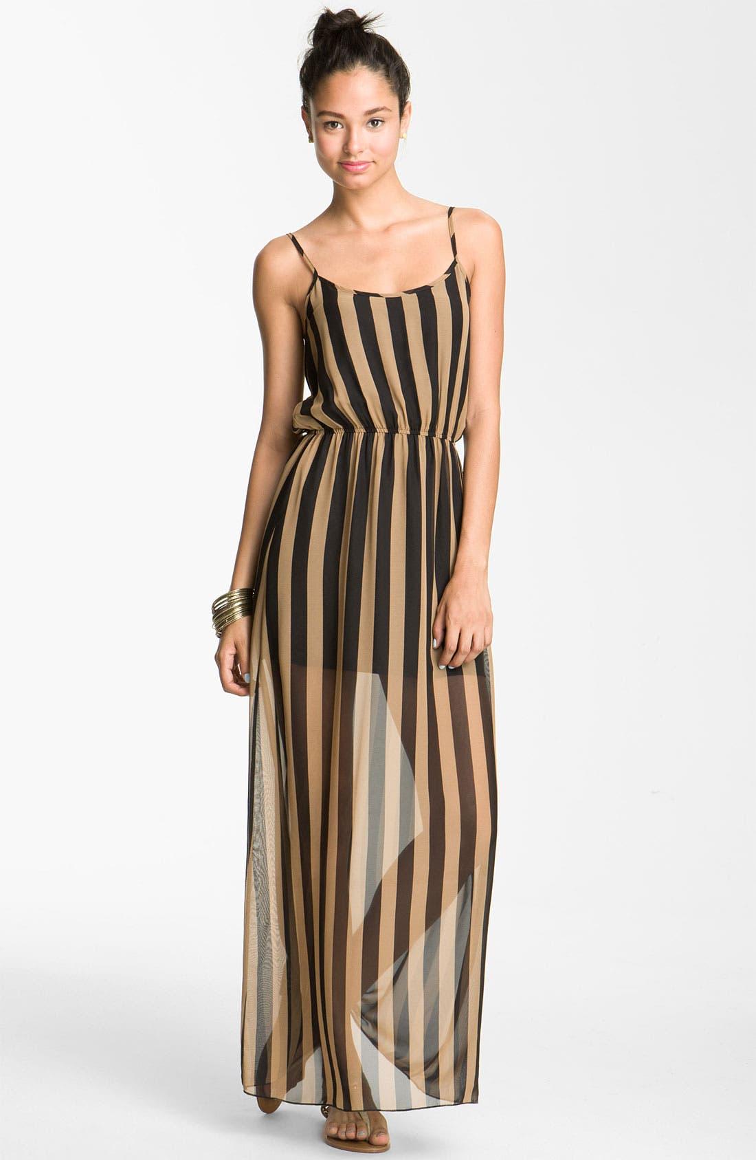 dee elle Maxi Dress,                             Main thumbnail 1, color,                             001