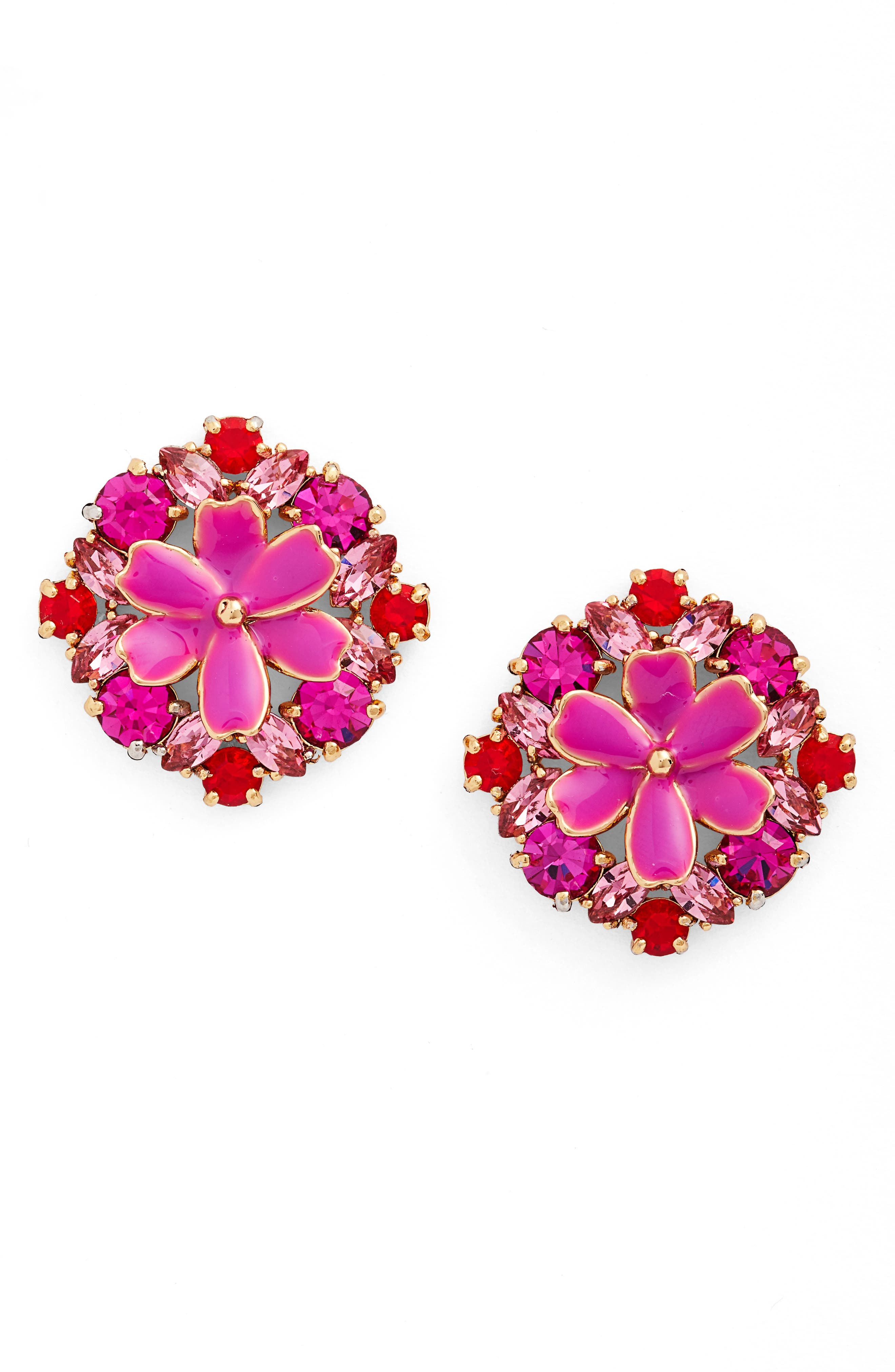 here comes the sun crystal stud earrings,                             Main thumbnail 3, color,