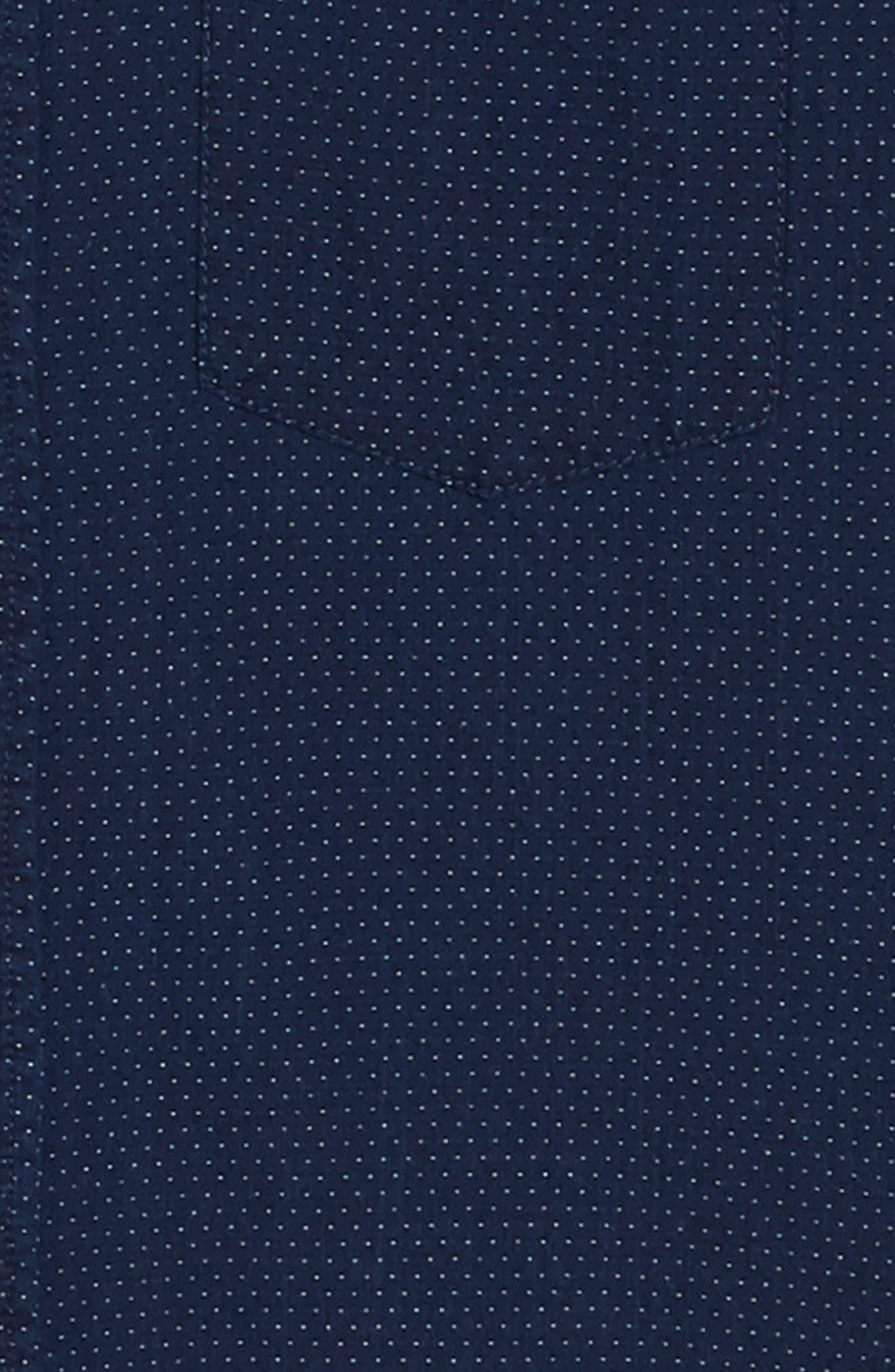 Indigo Dot Regular Fit Sport Shirt,                             Alternate thumbnail 6, color,                             VINTAGE