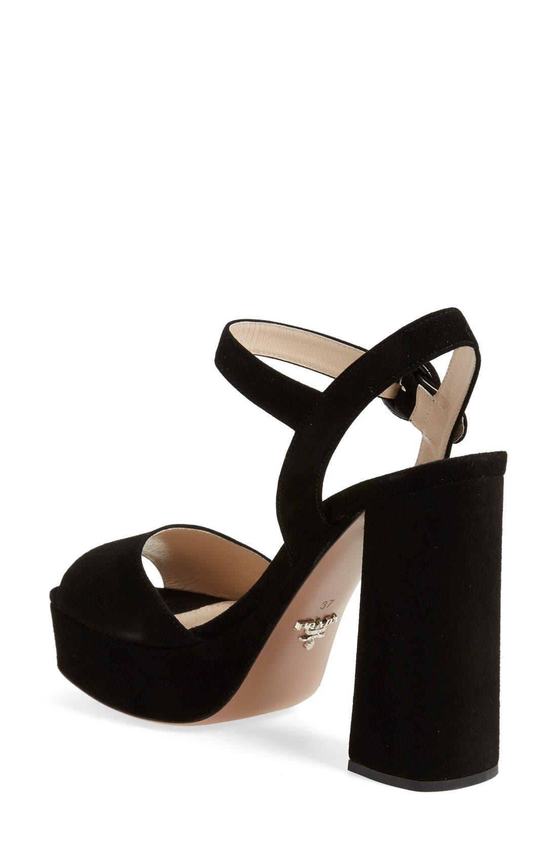 Block Heel Platform Sandal,                             Alternate thumbnail 3, color,