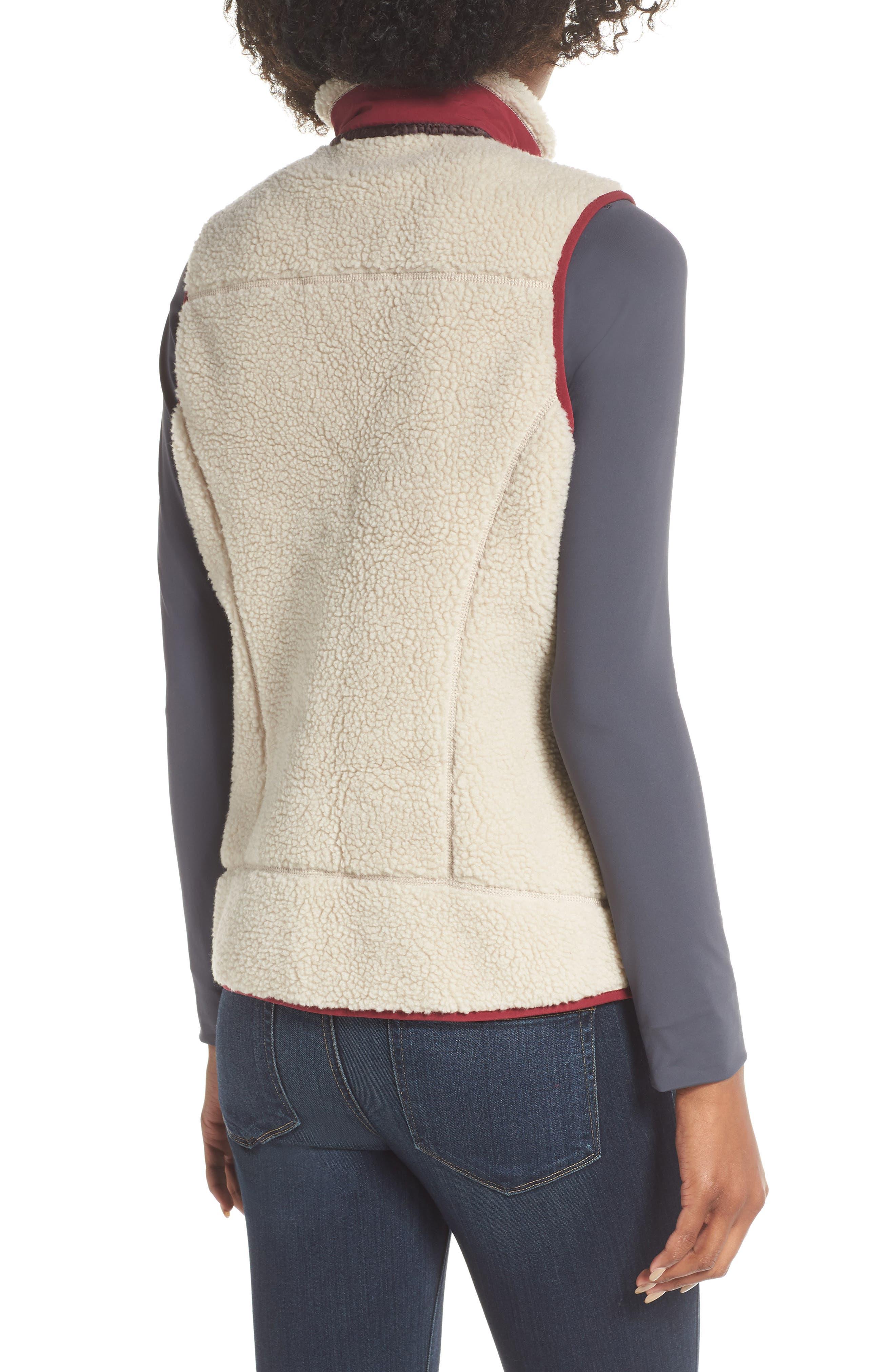 Classic Retro-X<sup>®</sup> Fleece Vest,                             Alternate thumbnail 2, color,                             NATURAL W/ ARROW RED