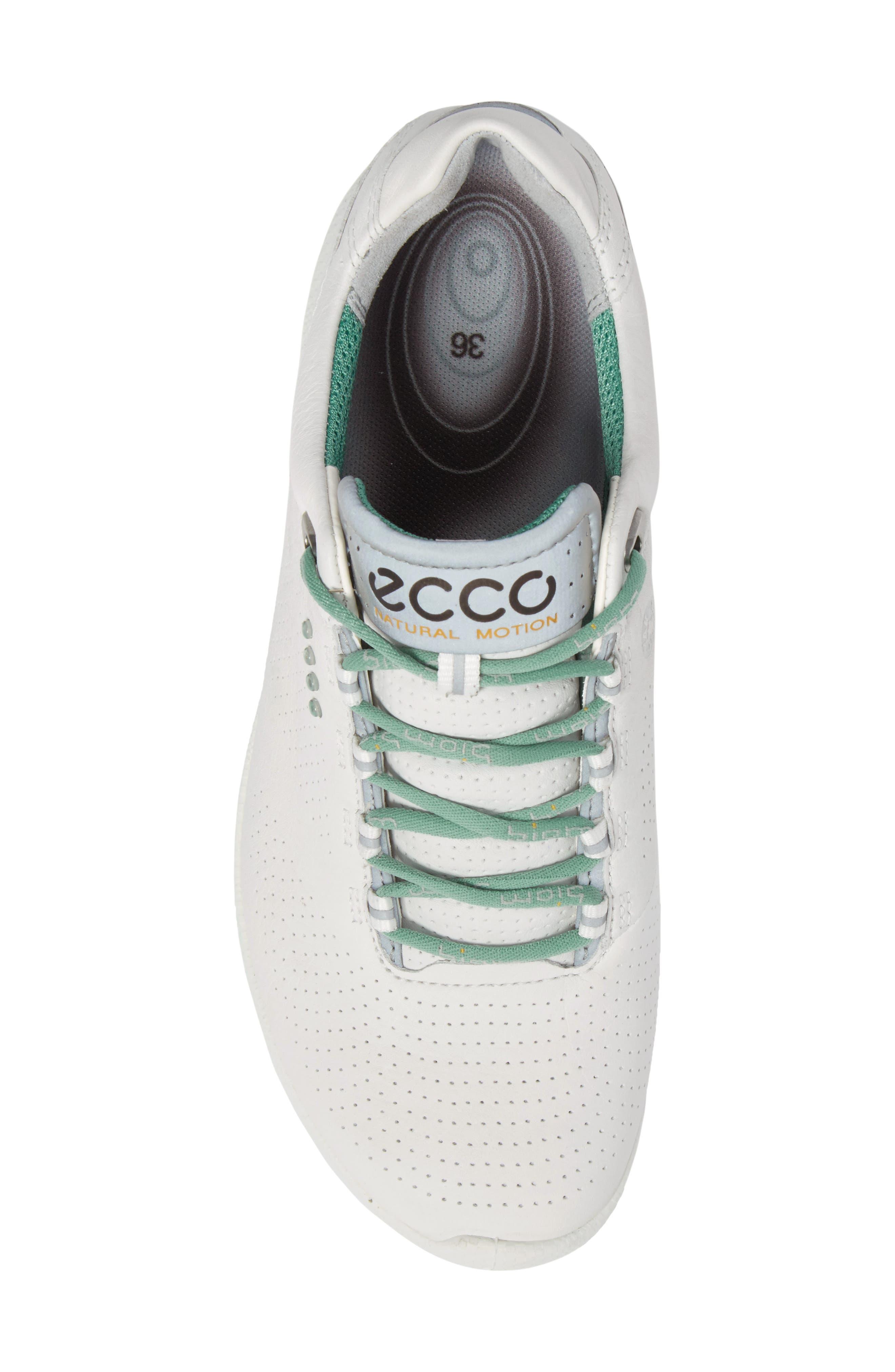 BIOM 2 Hybrid Water-Repellent Golf Shoe,                             Alternate thumbnail 5, color,                             WHITE/ GRANITE GREEN LEATHER
