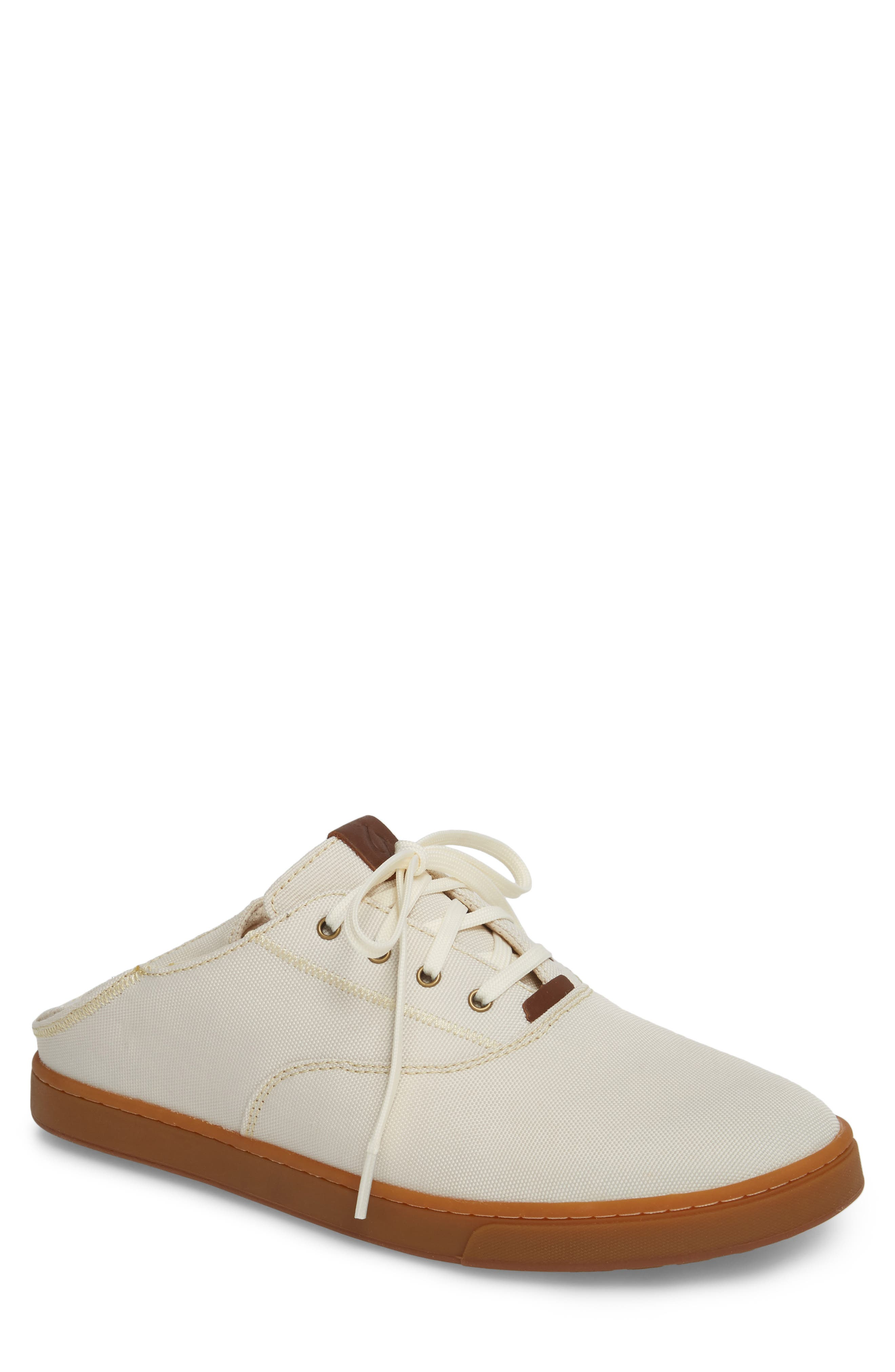 Kahu Collapsible Lace-Up Sneaker,                         Main,                         color, OFF WHITE/ TOFFEE