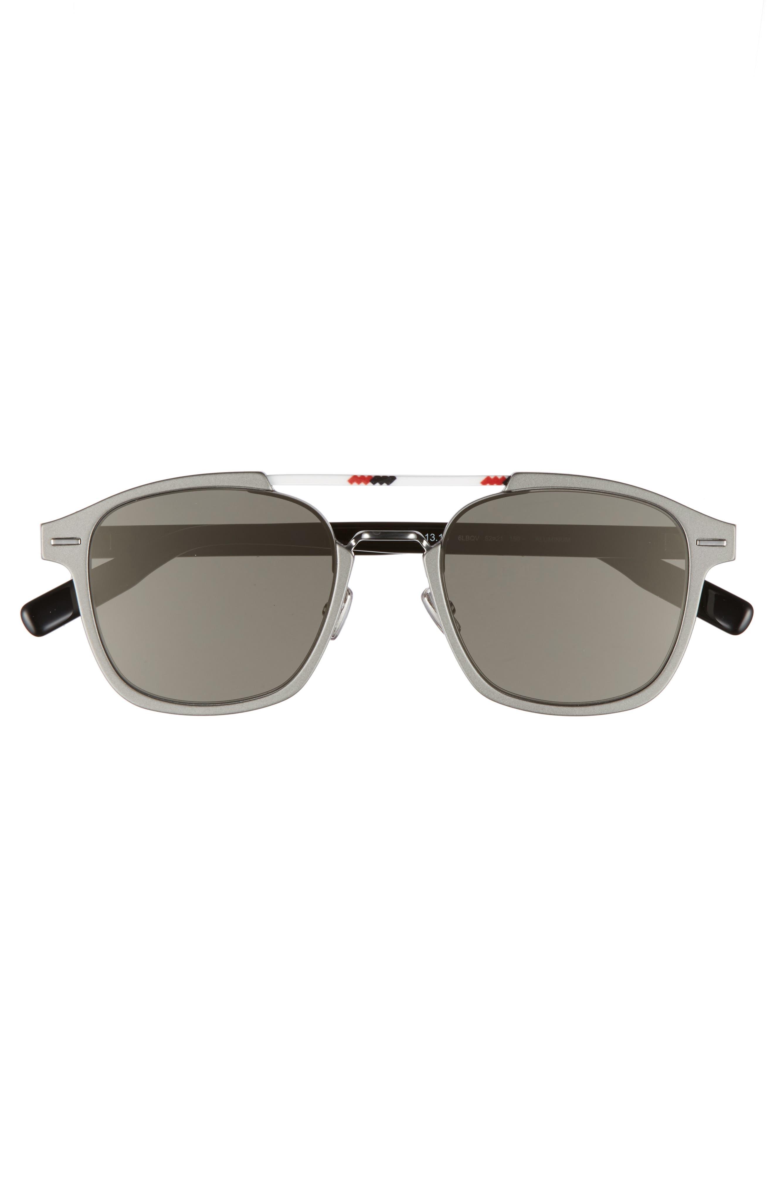 AL13.13 52mm Sunglasses,                             Alternate thumbnail 2, color,                             RUTHENIUM/ IVORY