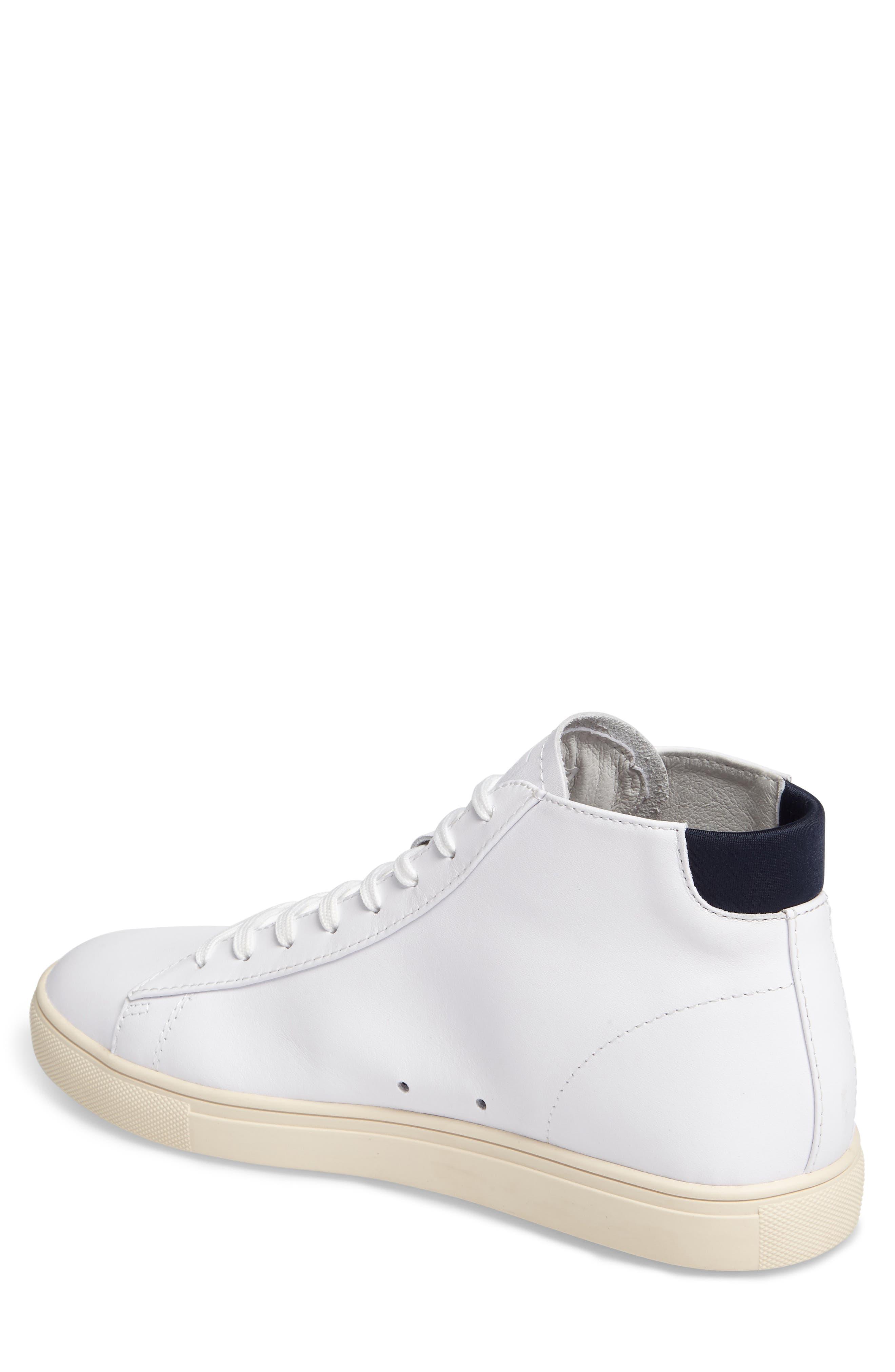 'Bradley Mid' Sneaker,                             Alternate thumbnail 2, color,                             WHITE/WHITE LEATHER