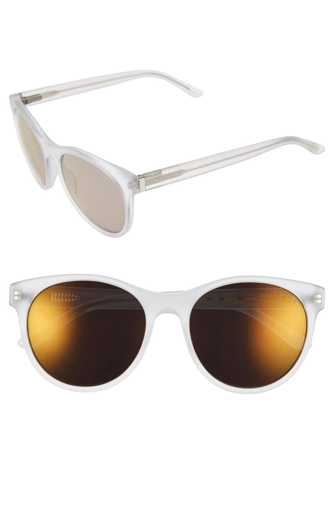 54mm Retro Sunglasses,                             Main thumbnail 3, color,