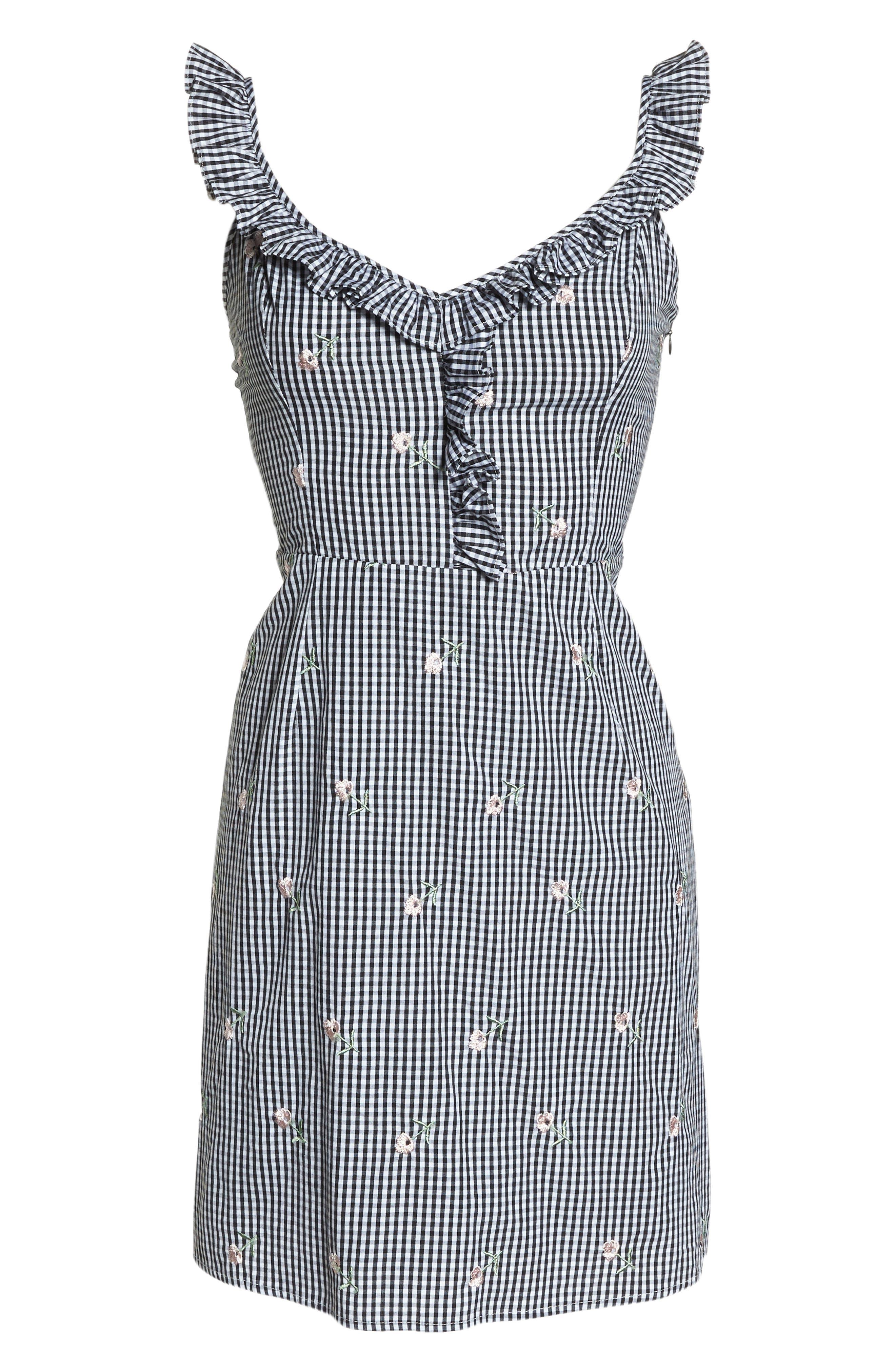 Jilly A-Line Cotton Dress,                             Alternate thumbnail 7, color,