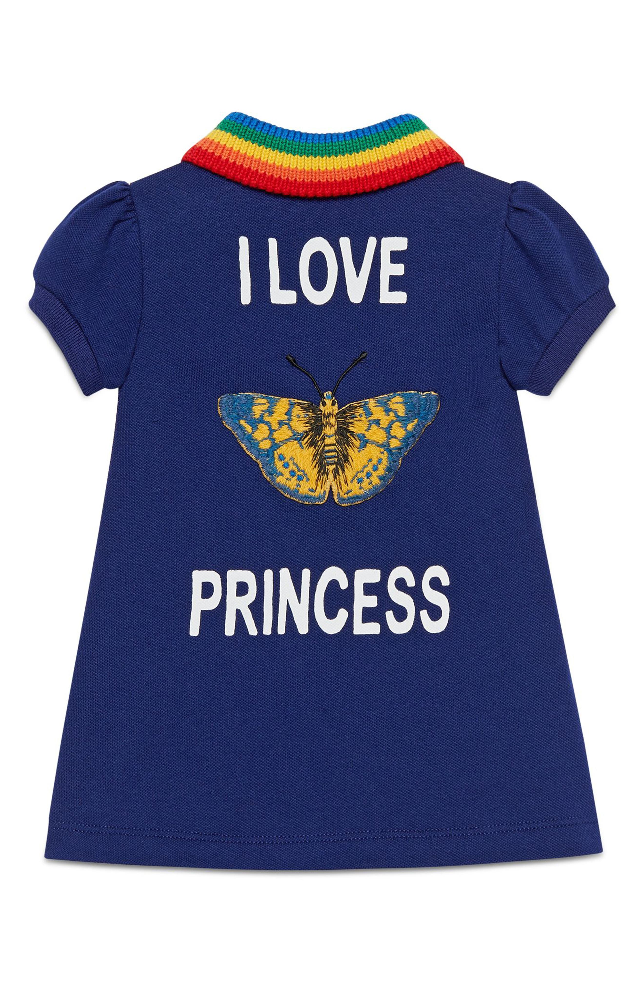 I Love Princess Stretch-Cotton Shift Dress,                             Alternate thumbnail 2, color,