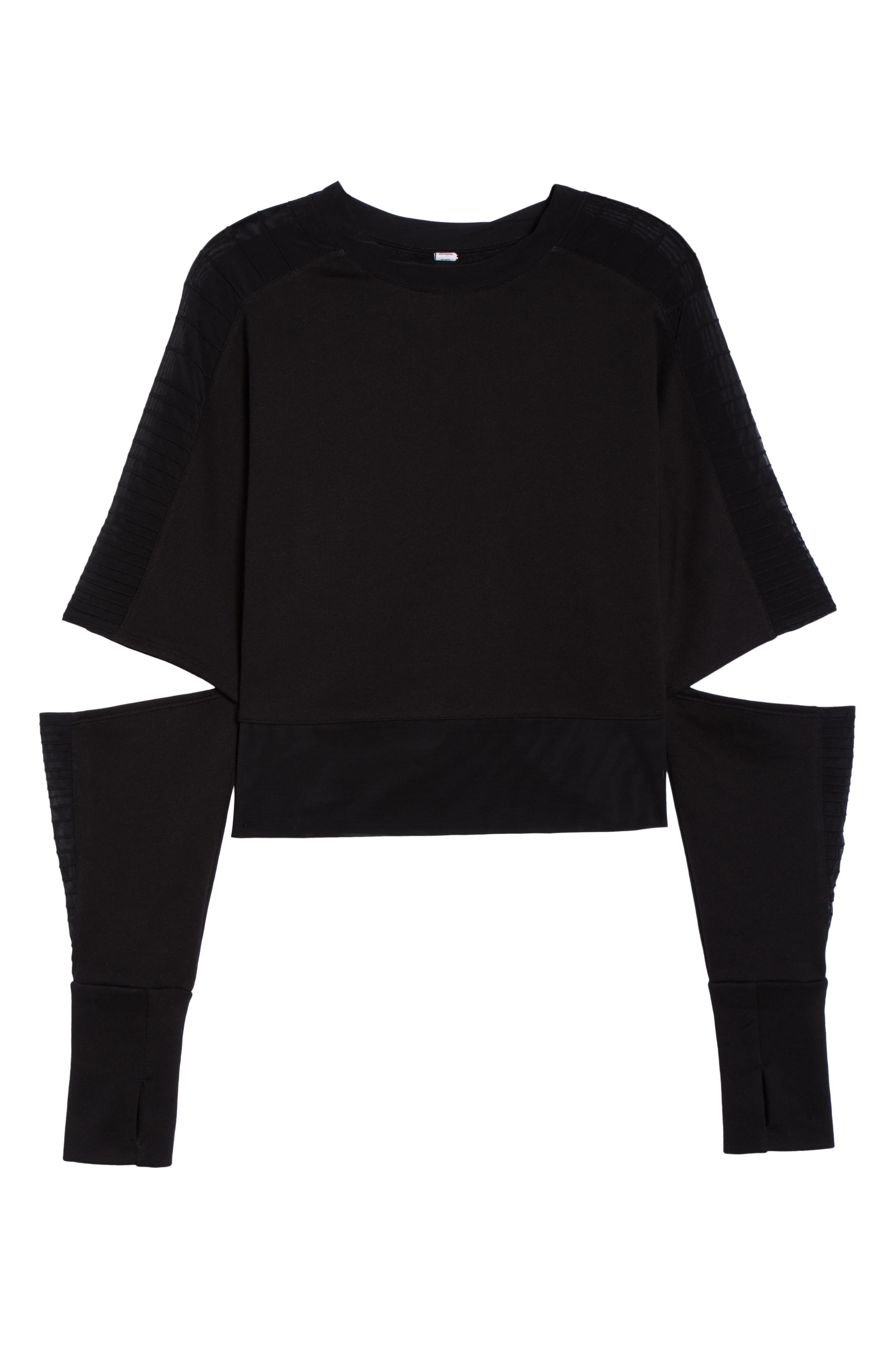 Cutout Sleeve Pullover Top,                             Alternate thumbnail 7, color,