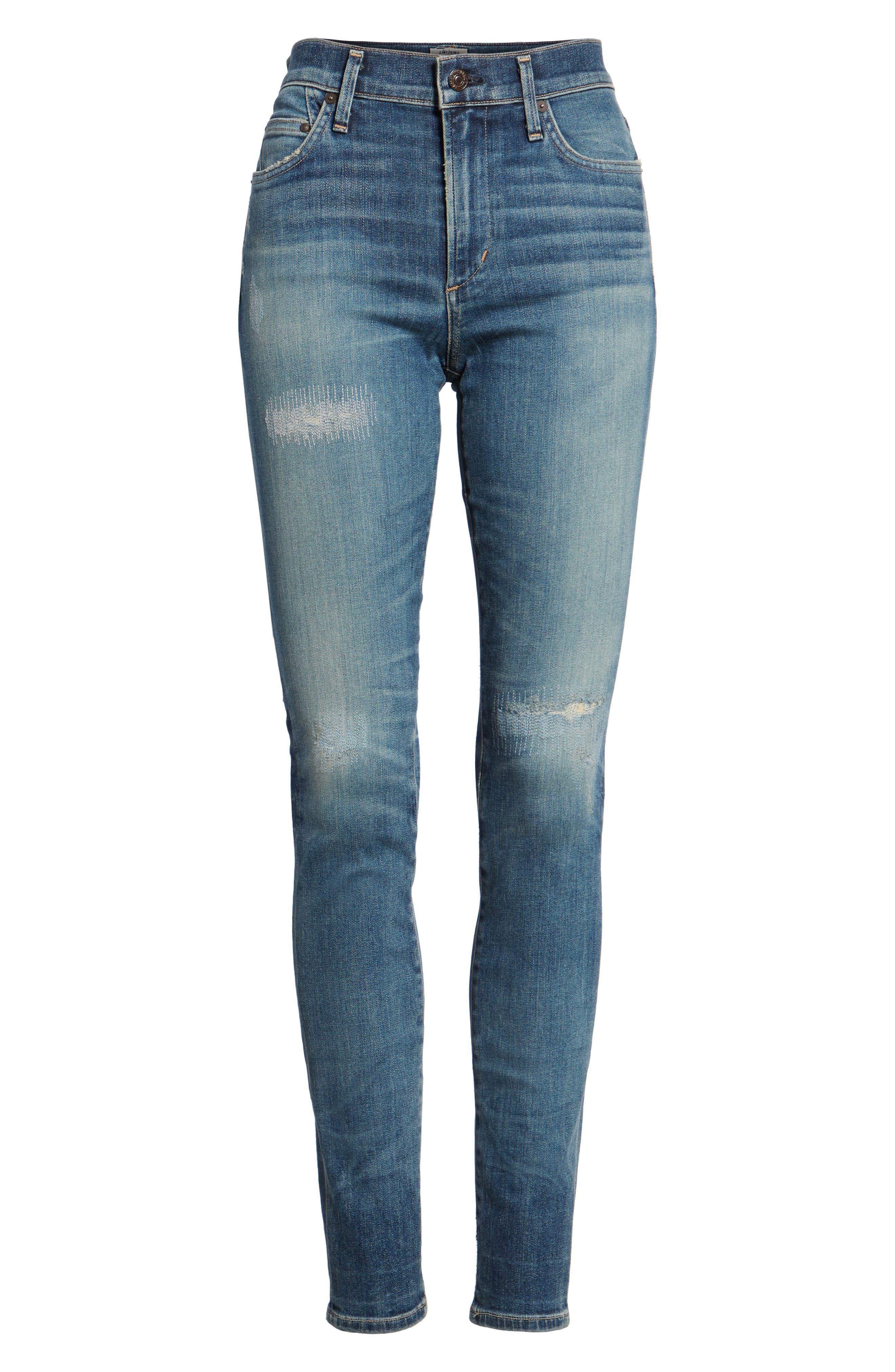 Rocket High Waist Skinny Jeans,                             Alternate thumbnail 7, color,                             465