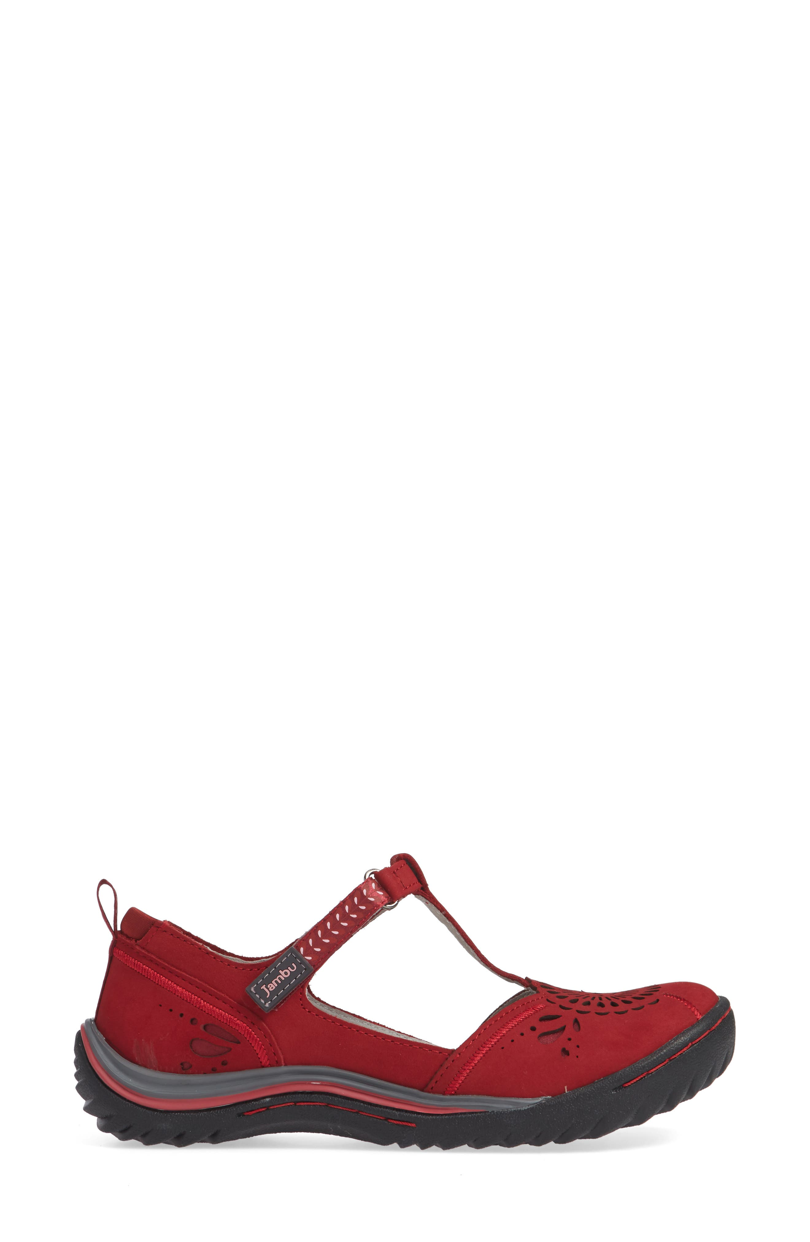 Sunkist Strappy Sneaker,                             Alternate thumbnail 3, color,                             RED/ PETAL NUBUCK LEATHER