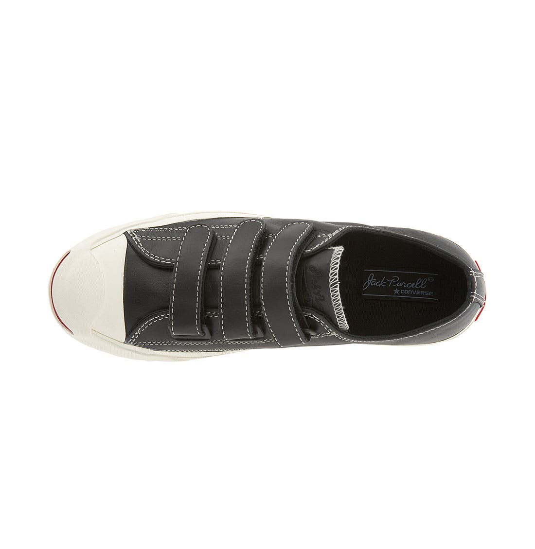 CONVERSE,                             'Jack Purcell' Velcro<sup>®</sup> Sneaker,                             Alternate thumbnail 2, color,                             001