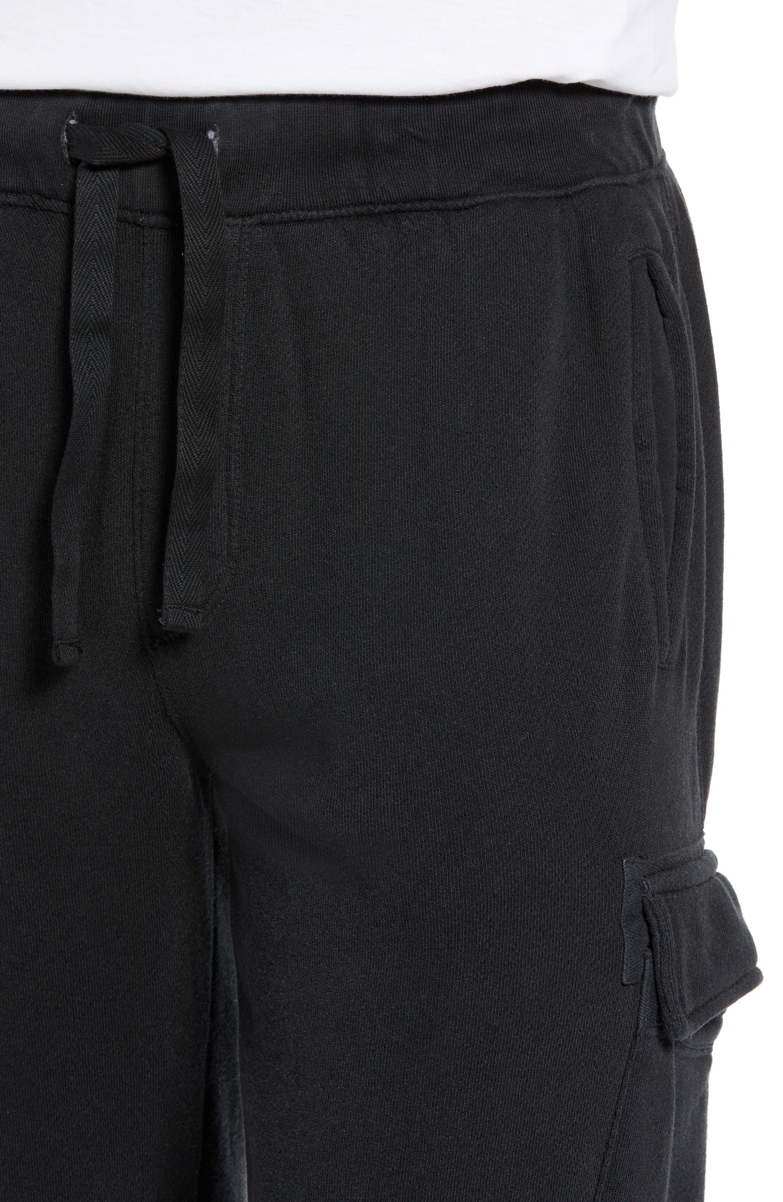 Slim Fit Sweatpants,                             Alternate thumbnail 4, color,                             CHARCOAL