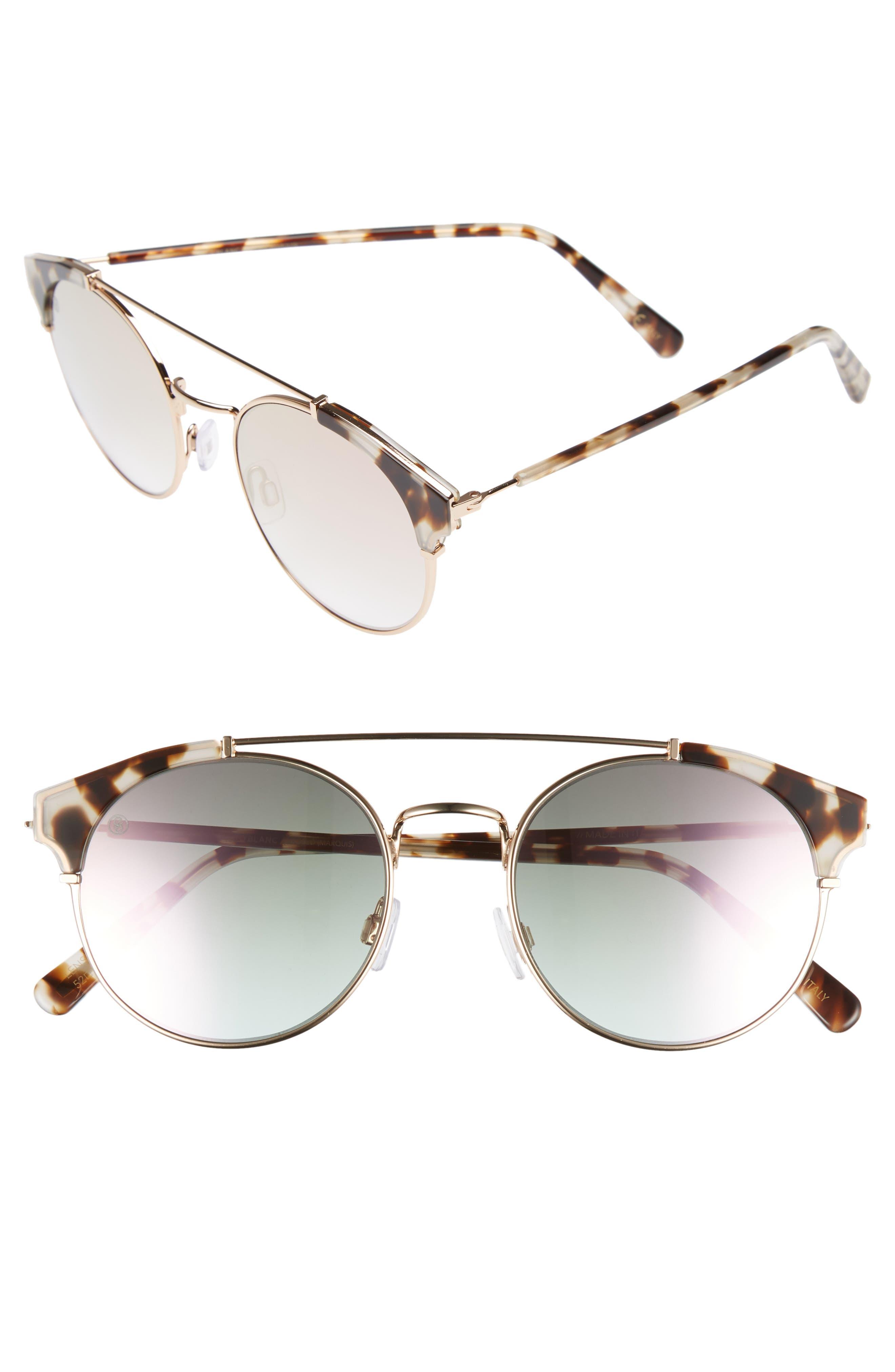 DBLANC,                             D'BLANC x Amuse Society Dosed Marquis 52mm Gradient Round Aviator Sunglasses,                             Main thumbnail 1, color,                             200