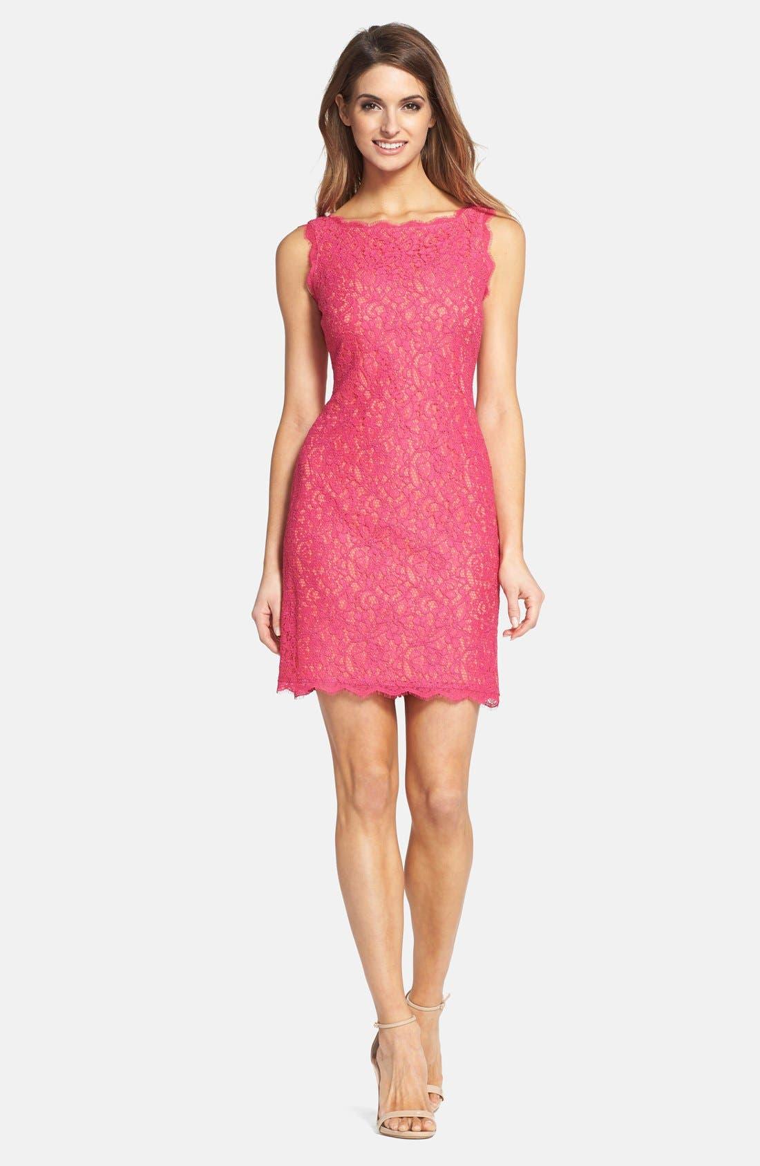Boatneck Lace Sheath Dress,                             Alternate thumbnail 58, color,