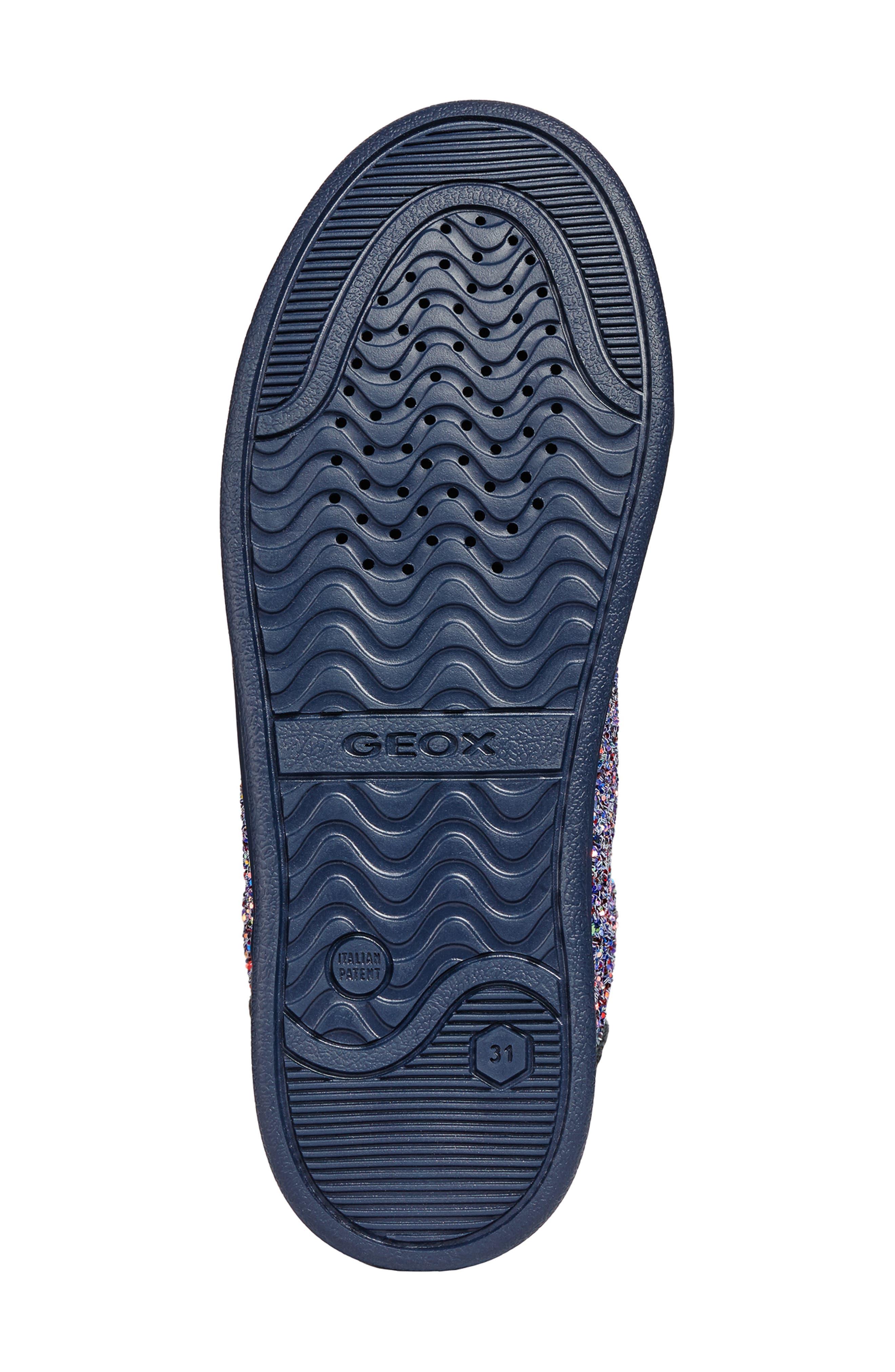 DJ Rock Glitter Pompom Sneaker,                             Alternate thumbnail 5, color,                             NAVY/LT PRUNE