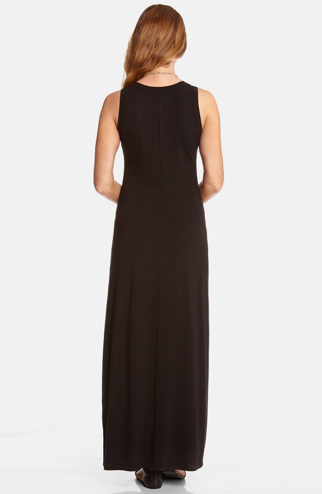 Maxi Tank Dress,                             Alternate thumbnail 5, color,                             BLACK