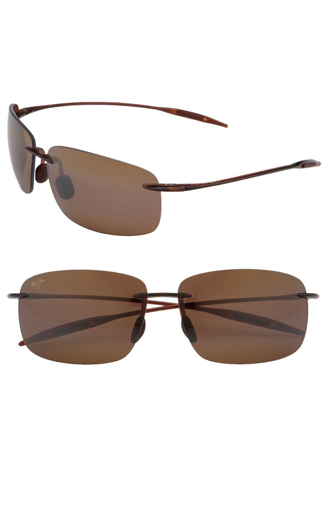Breakwall 63mm PolarizedPlus2<sup>®</sup> Rimless Sunglasses,                             Main thumbnail 2, color,
