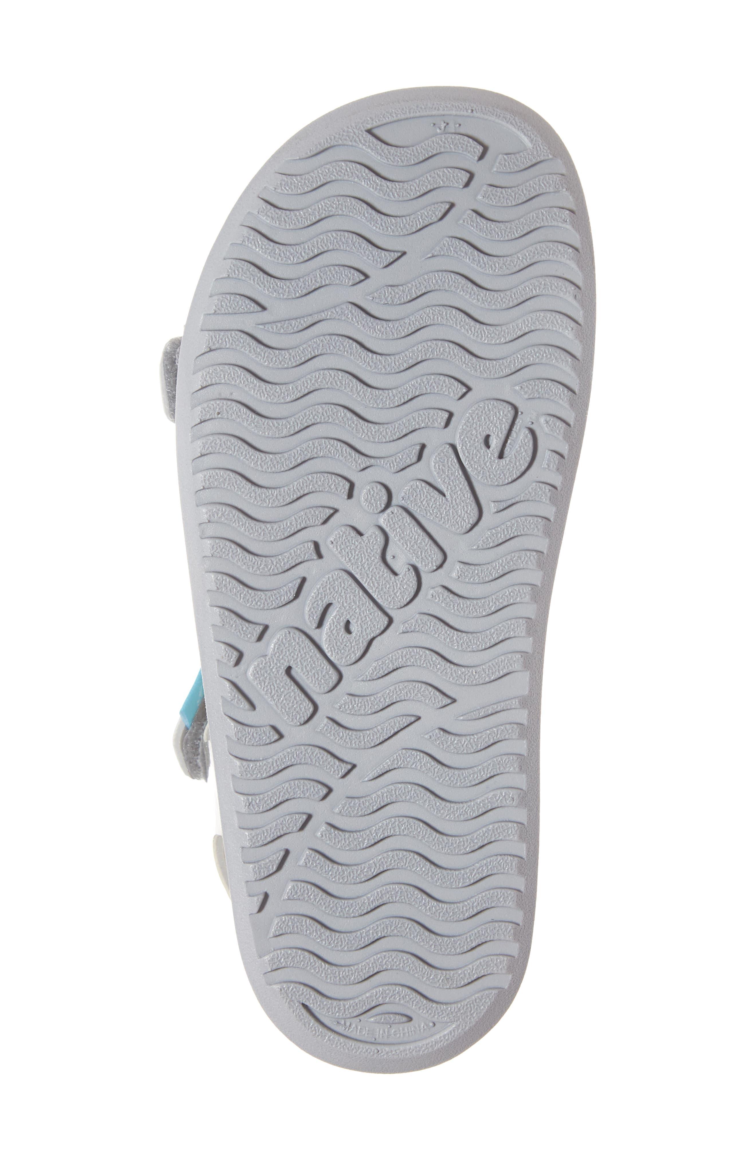 Charley Child Waterproof Flat Vegan Sandal,                             Alternate thumbnail 6, color,                             SILVER GLITTER/ WHITE/ GREY