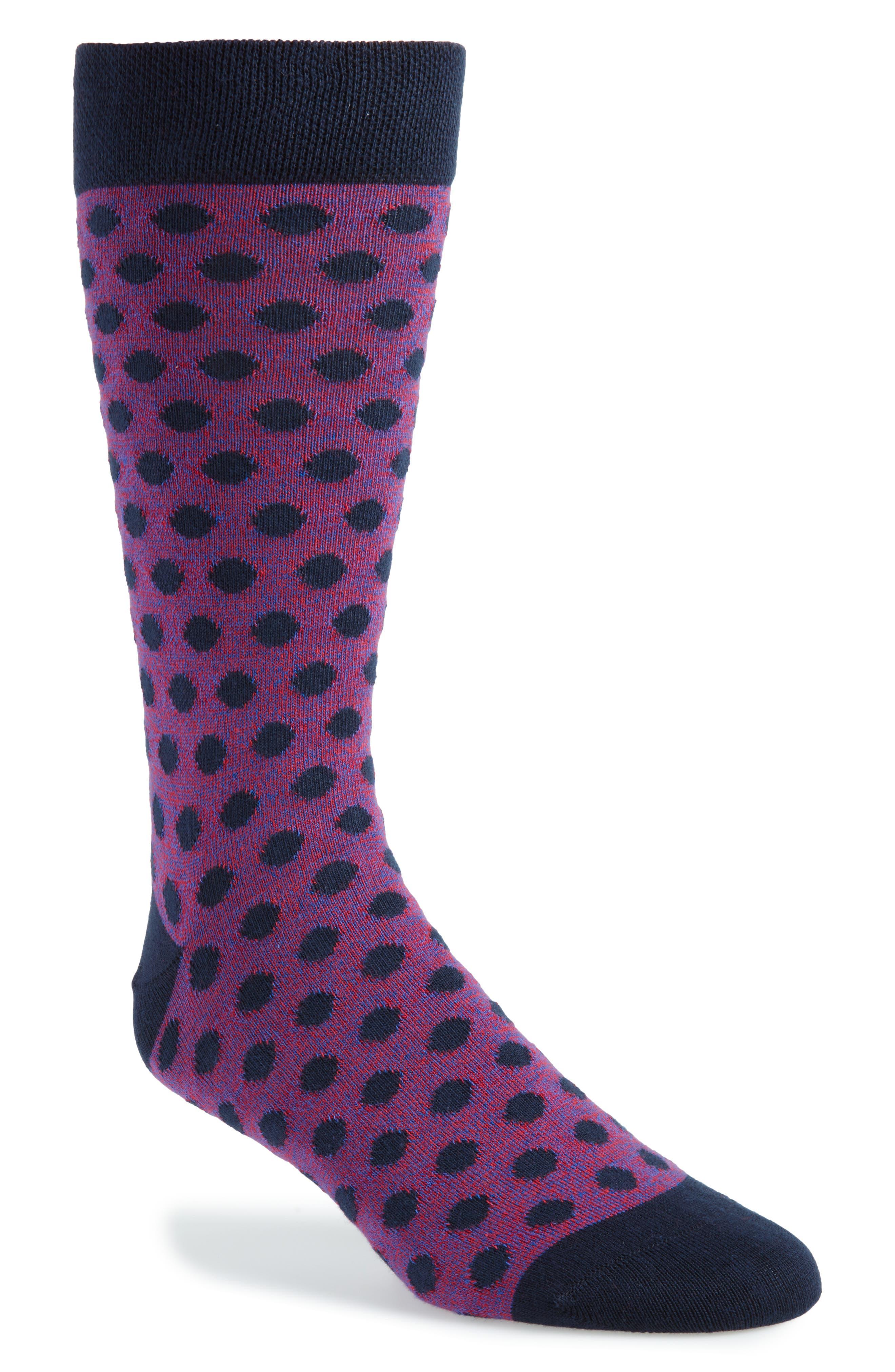 Spot Socks,                             Main thumbnail 1, color,                             NAVY