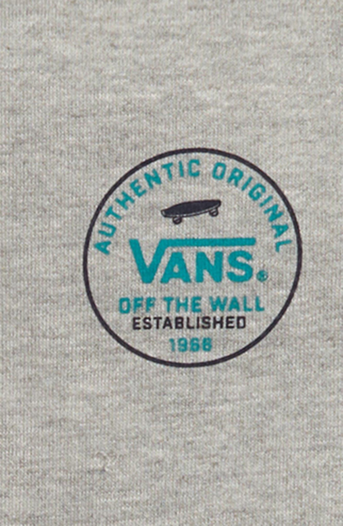 VANS,                             Circle Logo Hoodie,                             Alternate thumbnail 3, color,                             CEMENT HEATHER