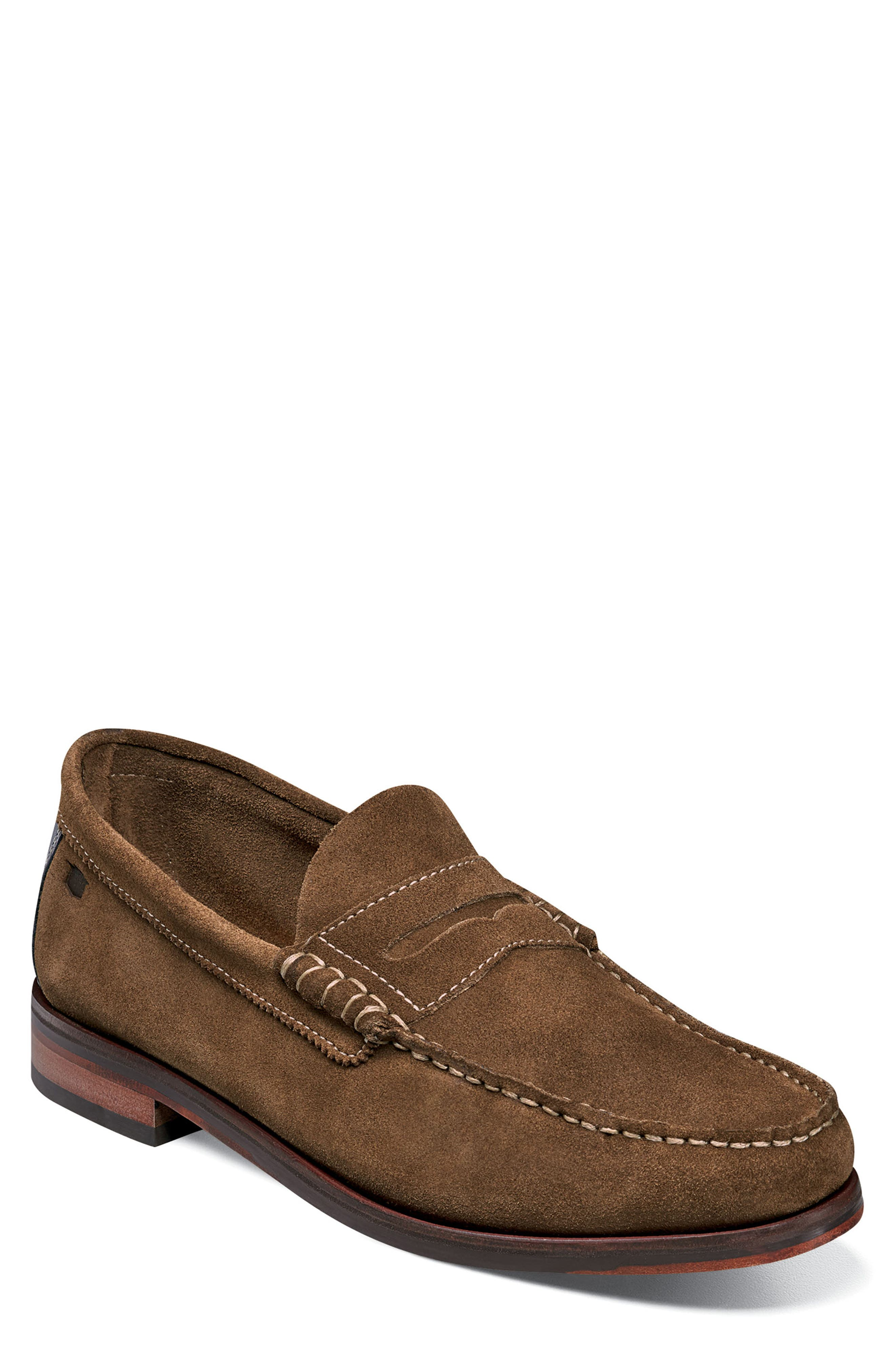 Heads-Up Penny Loafer,                             Main thumbnail 1, color,                             SNUFF SUEDE