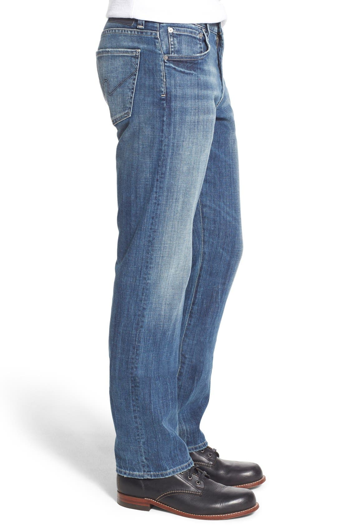 'Sid' Straight Leg Jeans,                             Alternate thumbnail 4, color,                             430