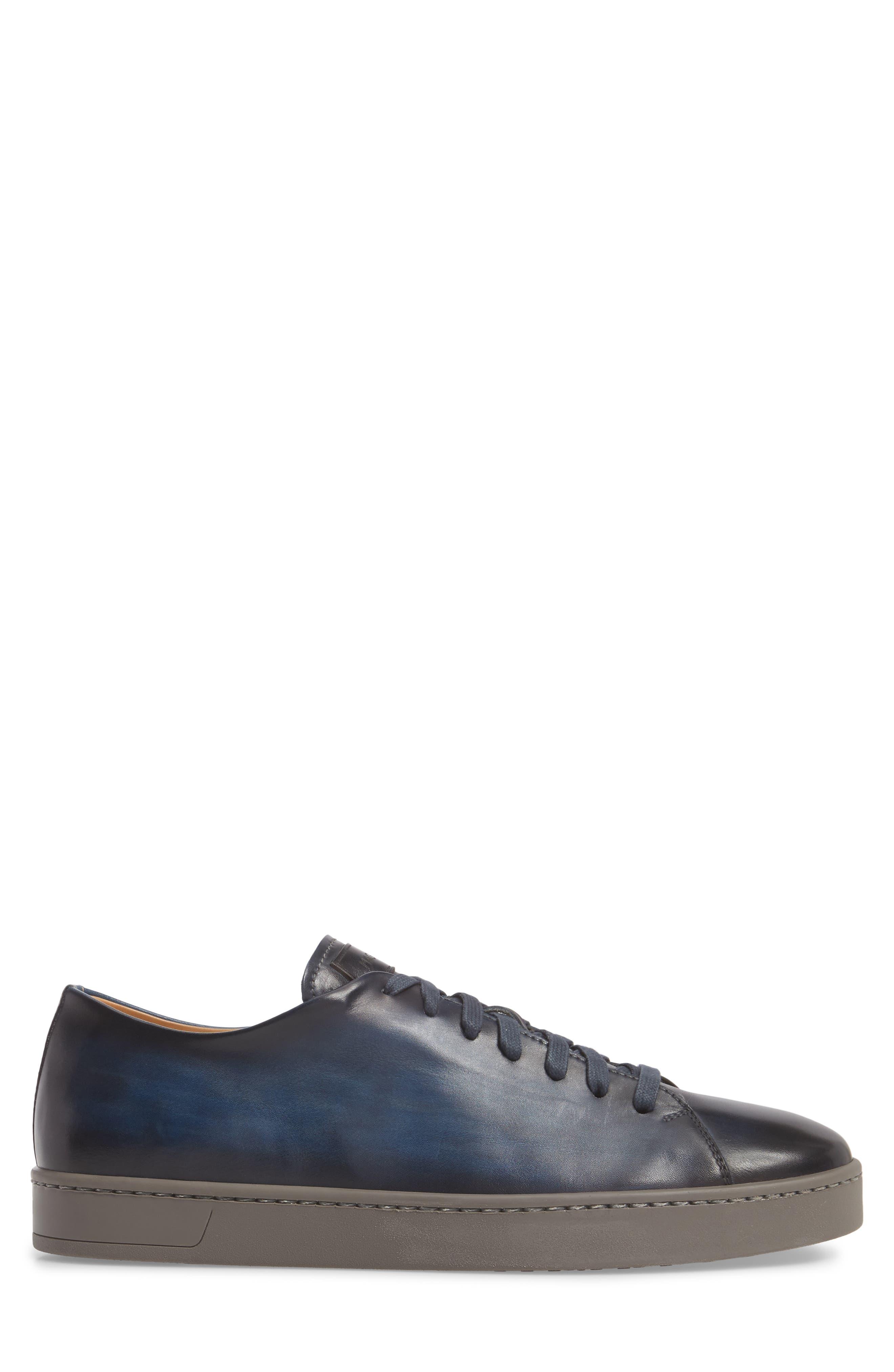 Belmont Lo Sneaker,                             Alternate thumbnail 3, color,                             NAVY LEATHER