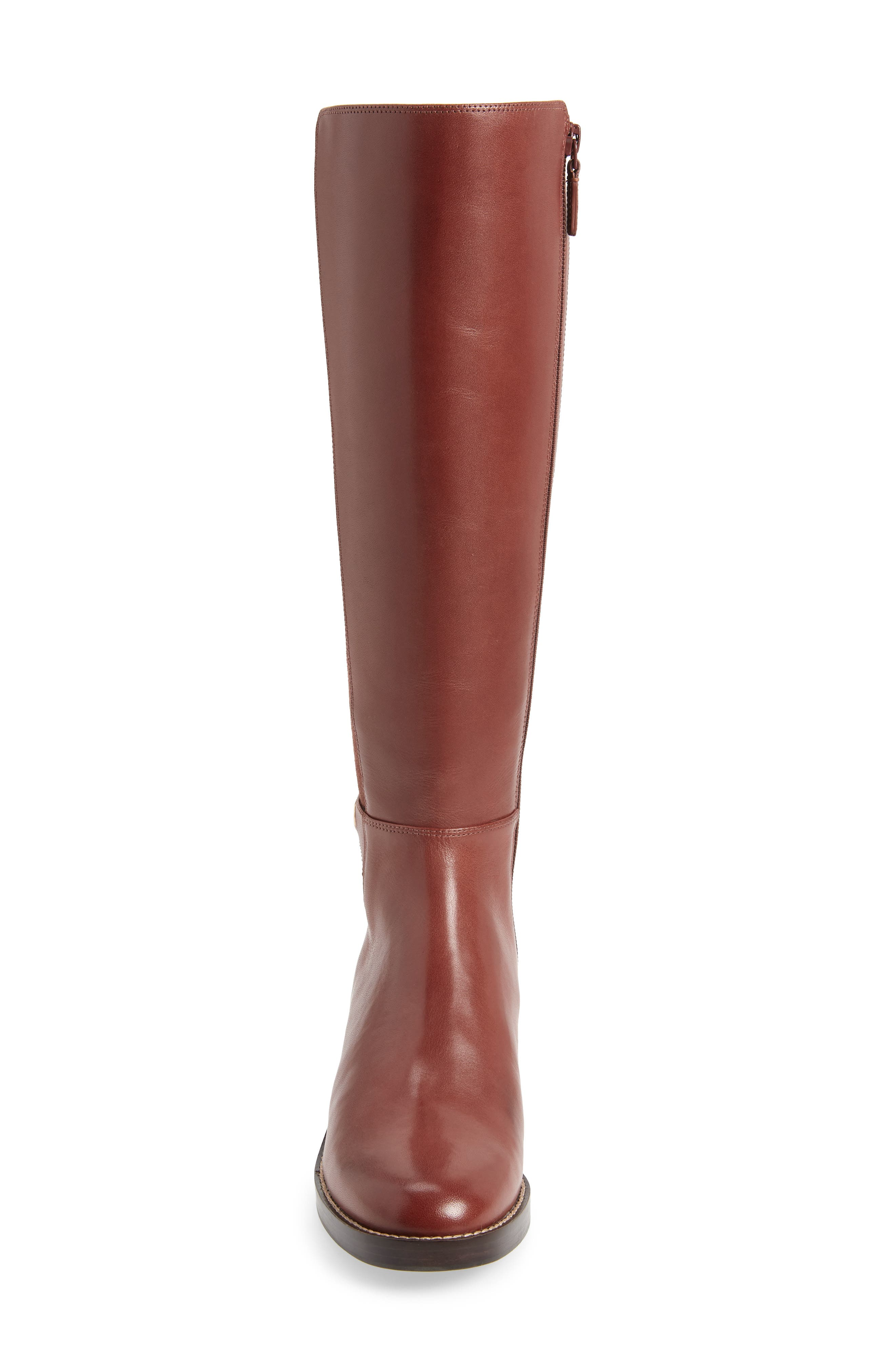 Parker Grand Stretch Knee High Boot,                             Alternate thumbnail 4, color,                             CHERRY MAHOGANY LEATHER