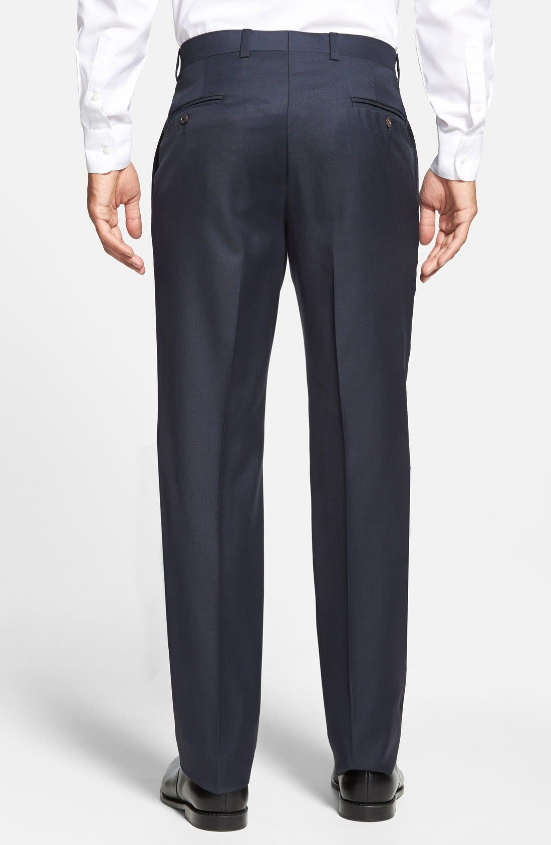 Jefferson Flat Front Wool Trousers,                             Alternate thumbnail 44, color,