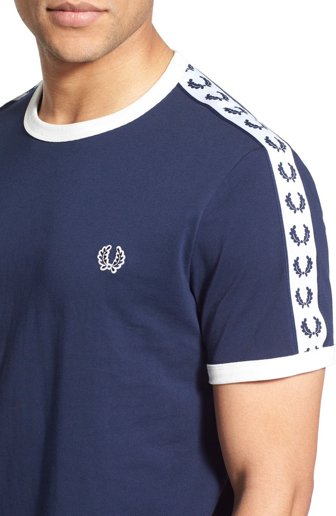 Extra Trim Fit Cotton Ringer T-Shirt,                             Alternate thumbnail 27, color,