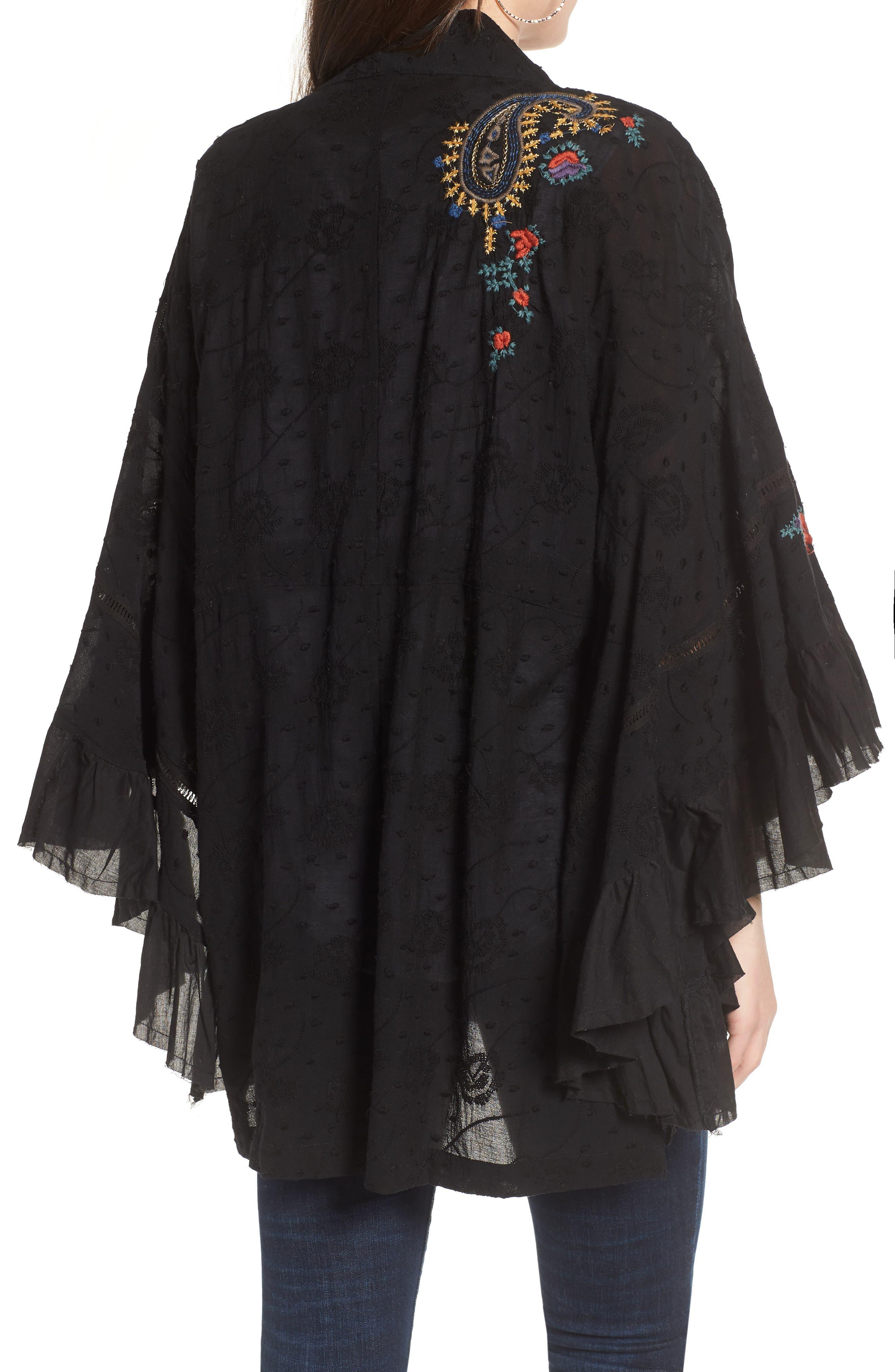 Dottie West Kimono,                             Alternate thumbnail 2, color,                             BLACK