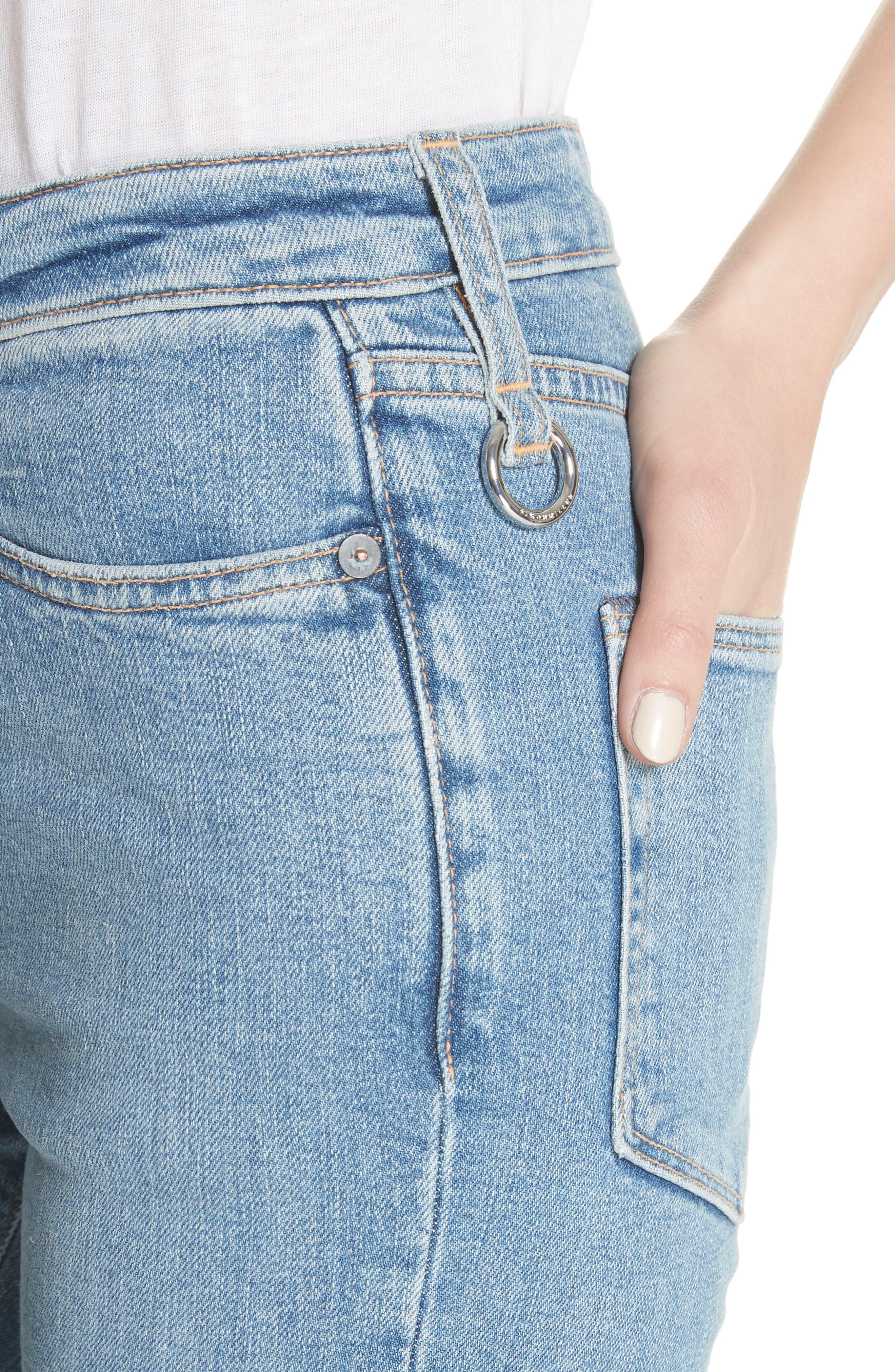 Lowry Split Hem Jeans,                             Alternate thumbnail 4, color,                             400