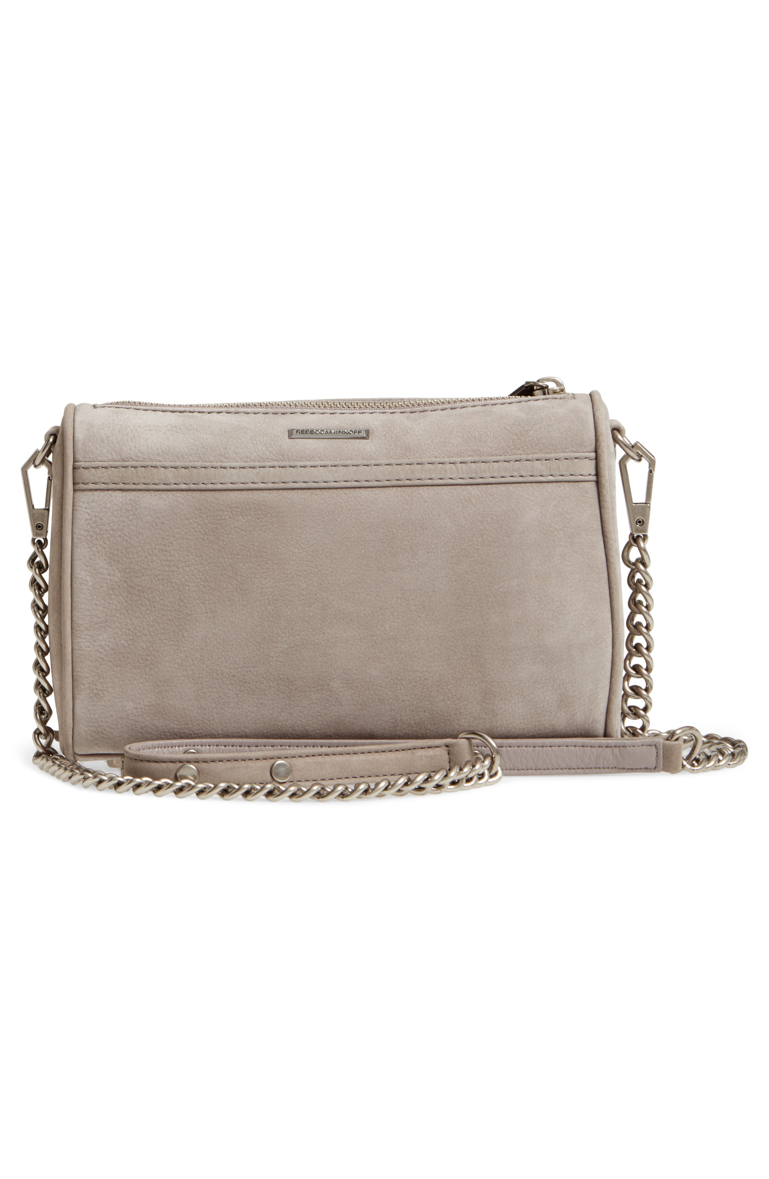 Mini MAC Nubuck Convertible Crossbody Bag,                             Alternate thumbnail 3, color,                             GREY