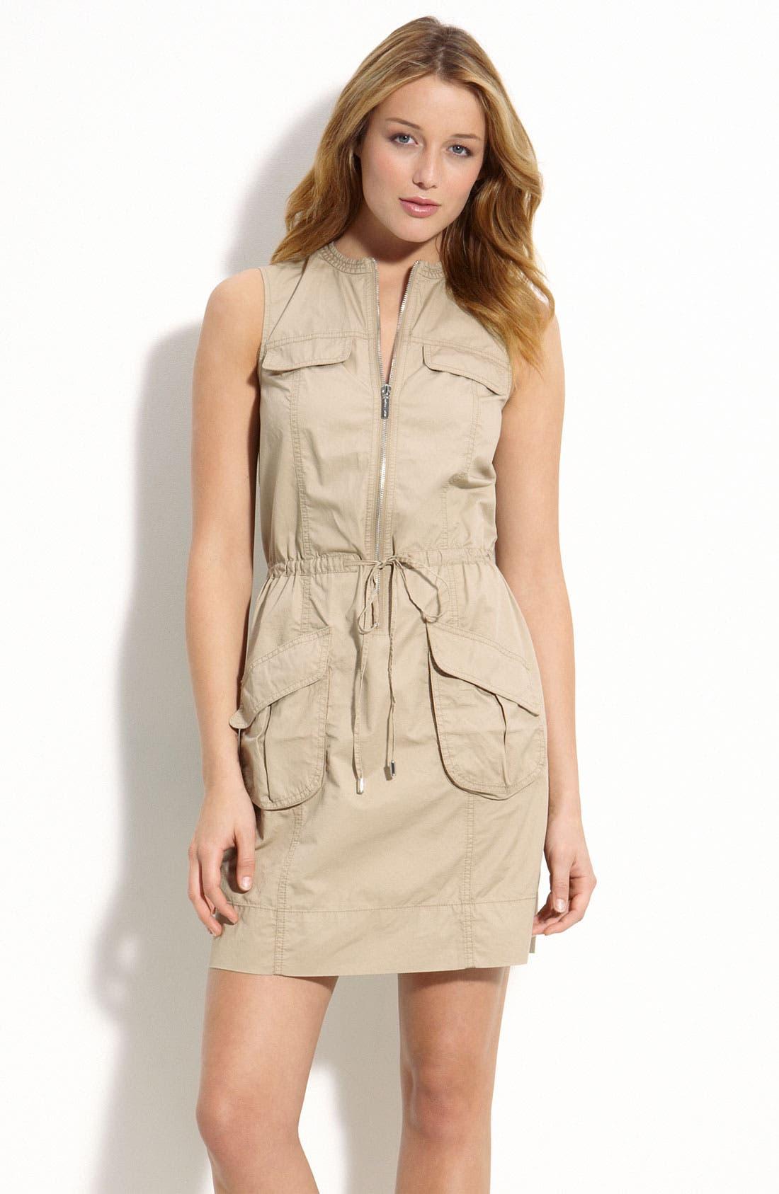 Sleeveless Cargo Dress,                             Main thumbnail 1, color,                             250