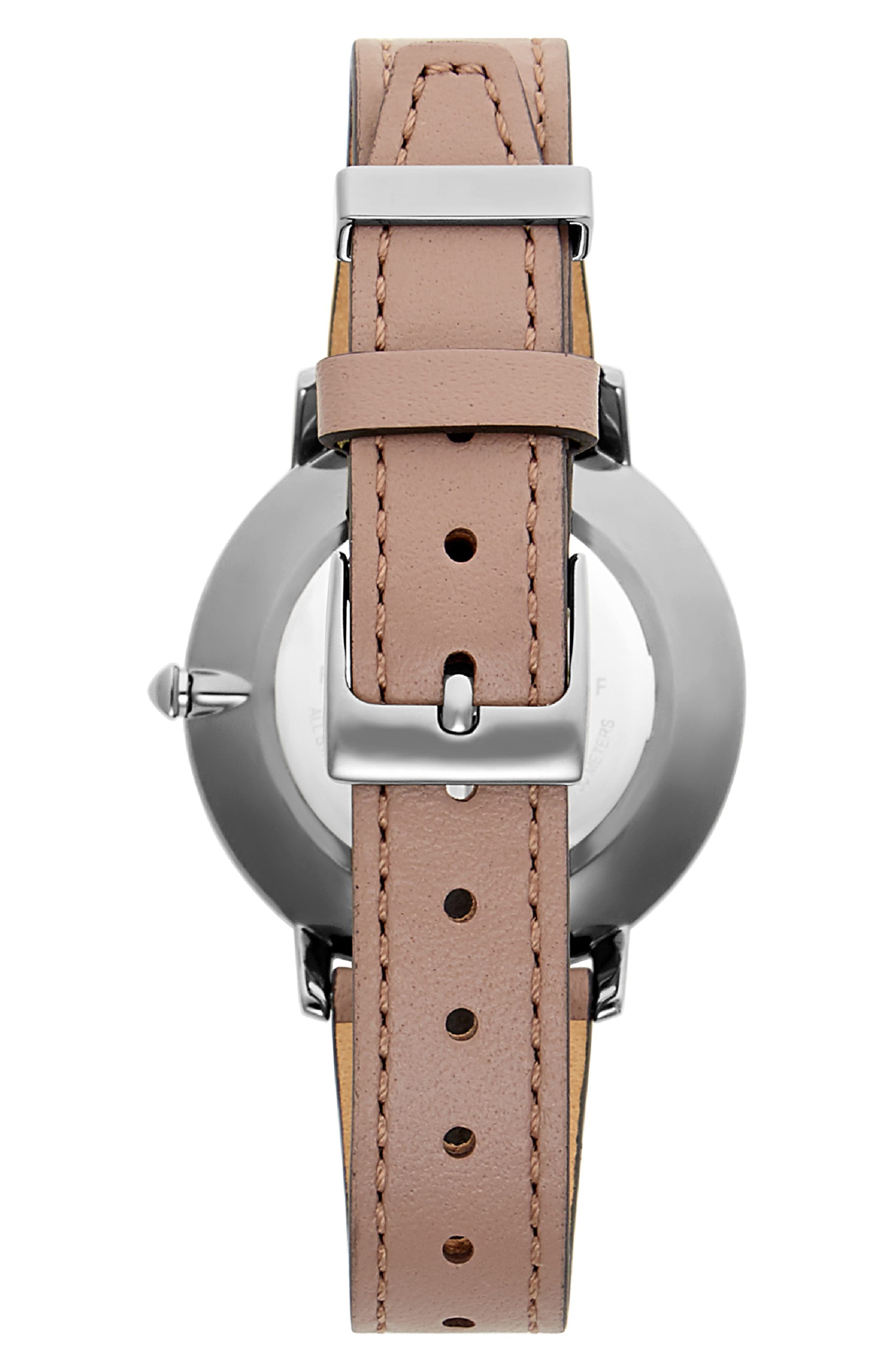 Major Leather Strap Watch, 35mm,                             Alternate thumbnail 2, color,                             MINK/ GREY