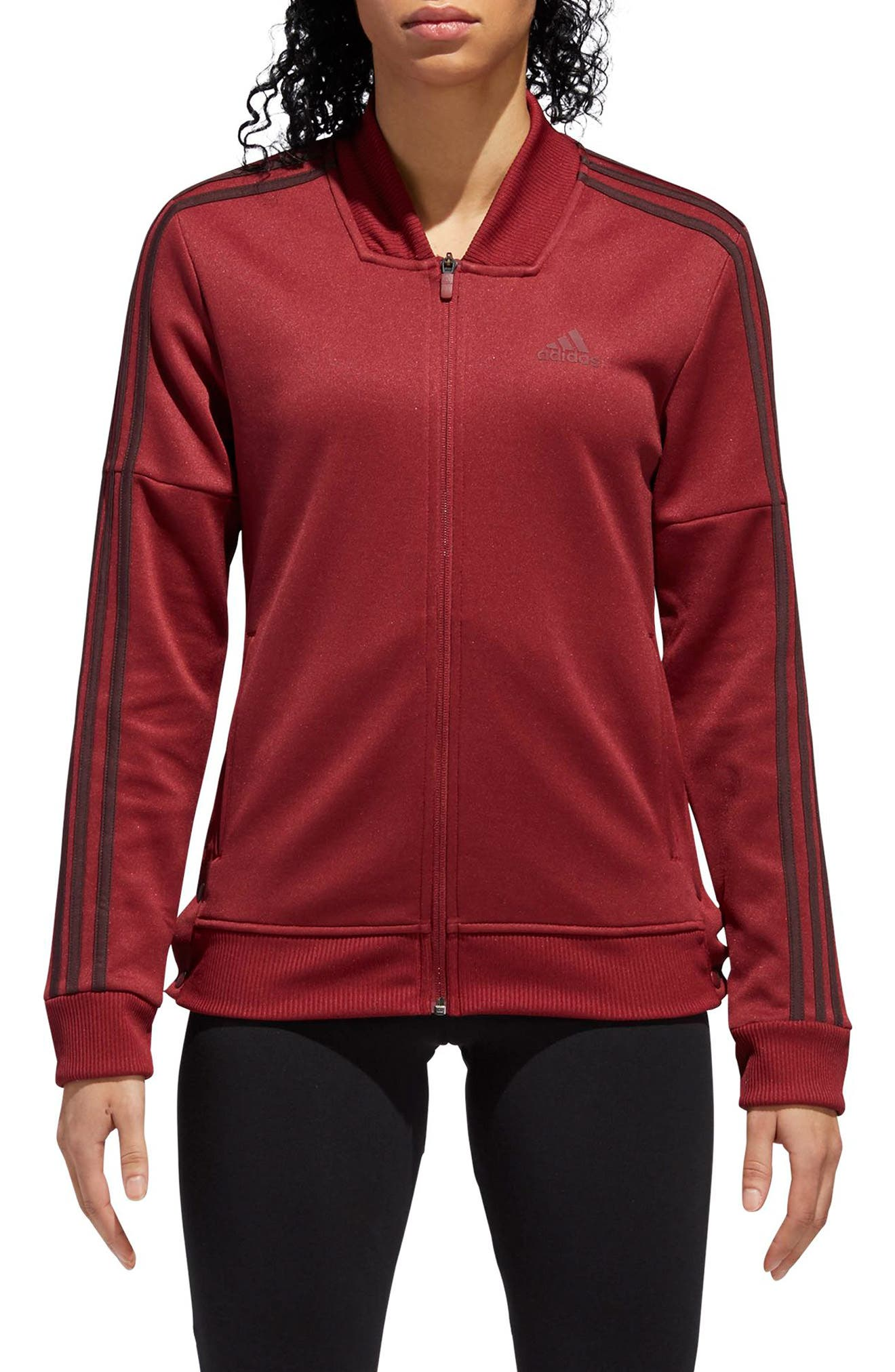 Snap Hem Track Jacket,                         Main,                         color, NOBLE MAROON/ NIGHT RED