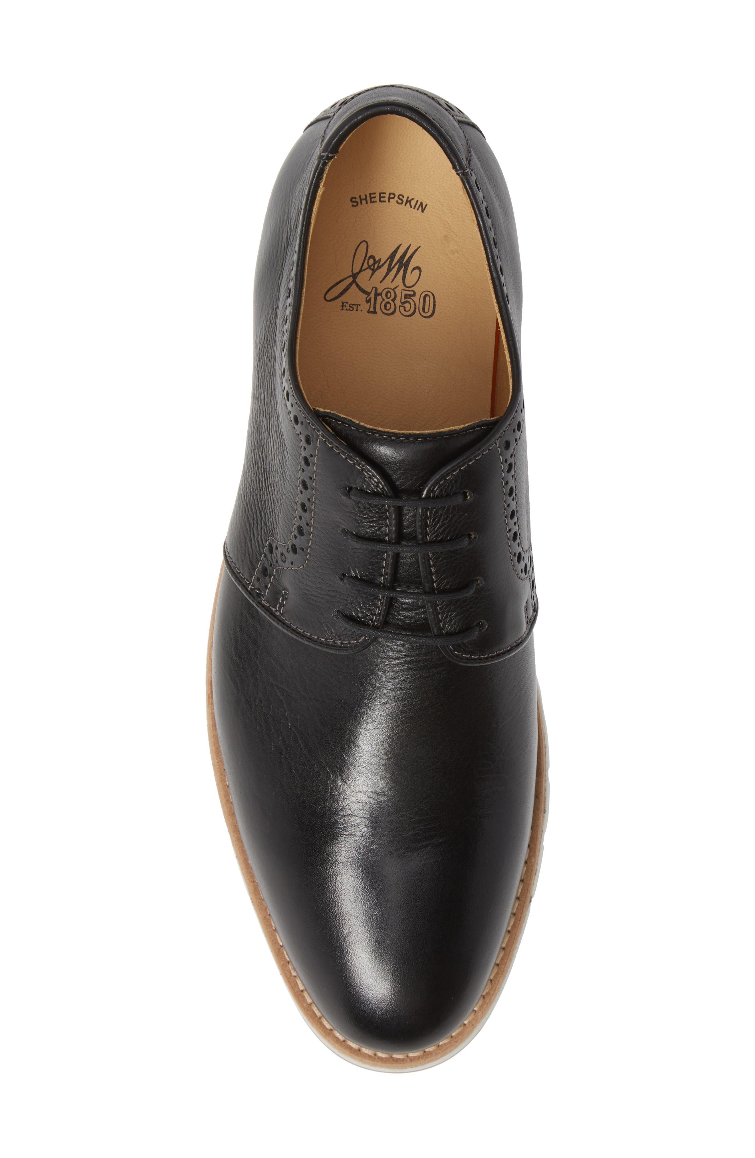 Martell Plain Toe Derby,                             Alternate thumbnail 5, color,                             BLACK LEATHER
