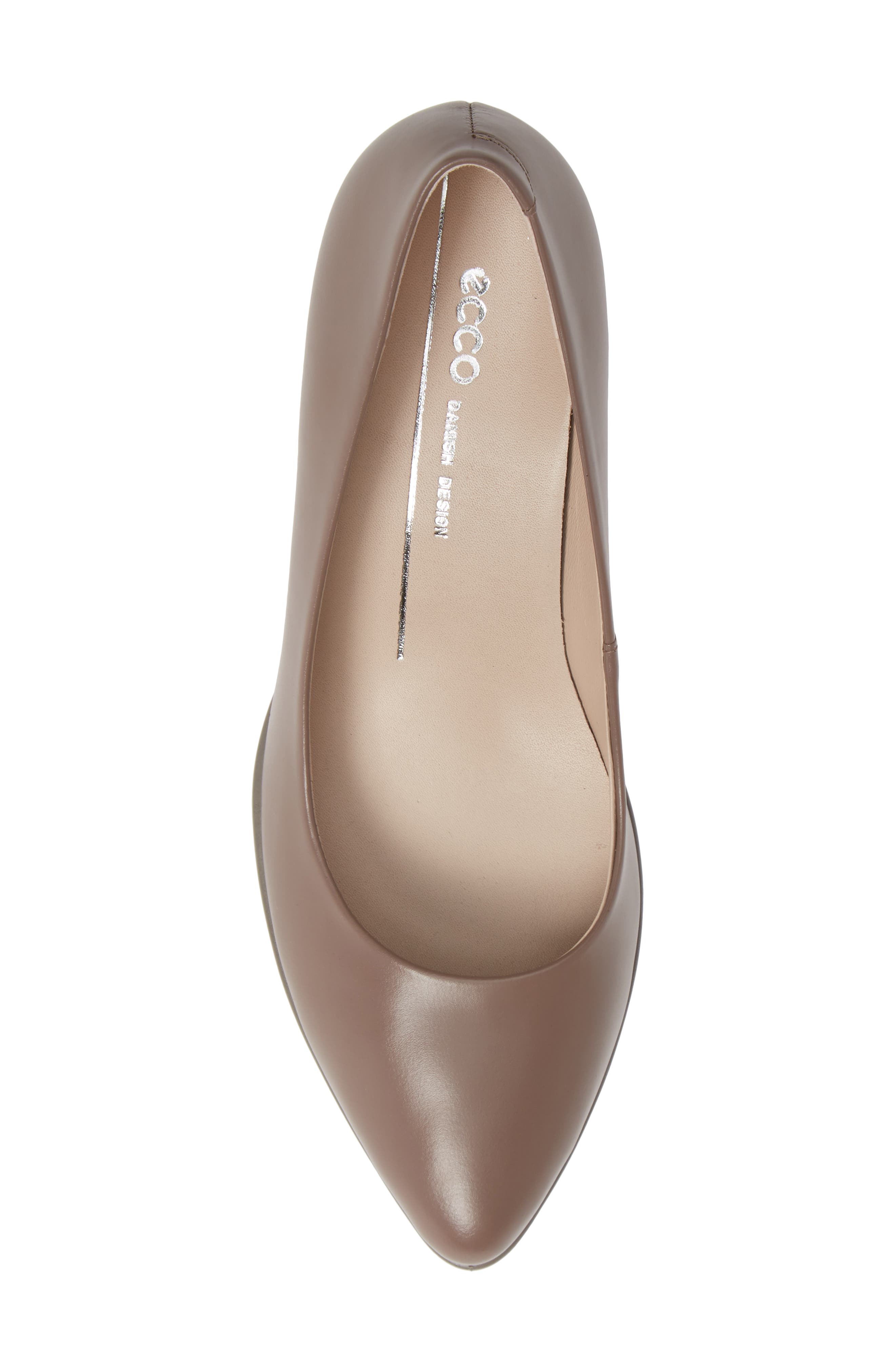 Shape 45 Pump,                             Alternate thumbnail 5, color,                             DEEP TAUPE LEATHER