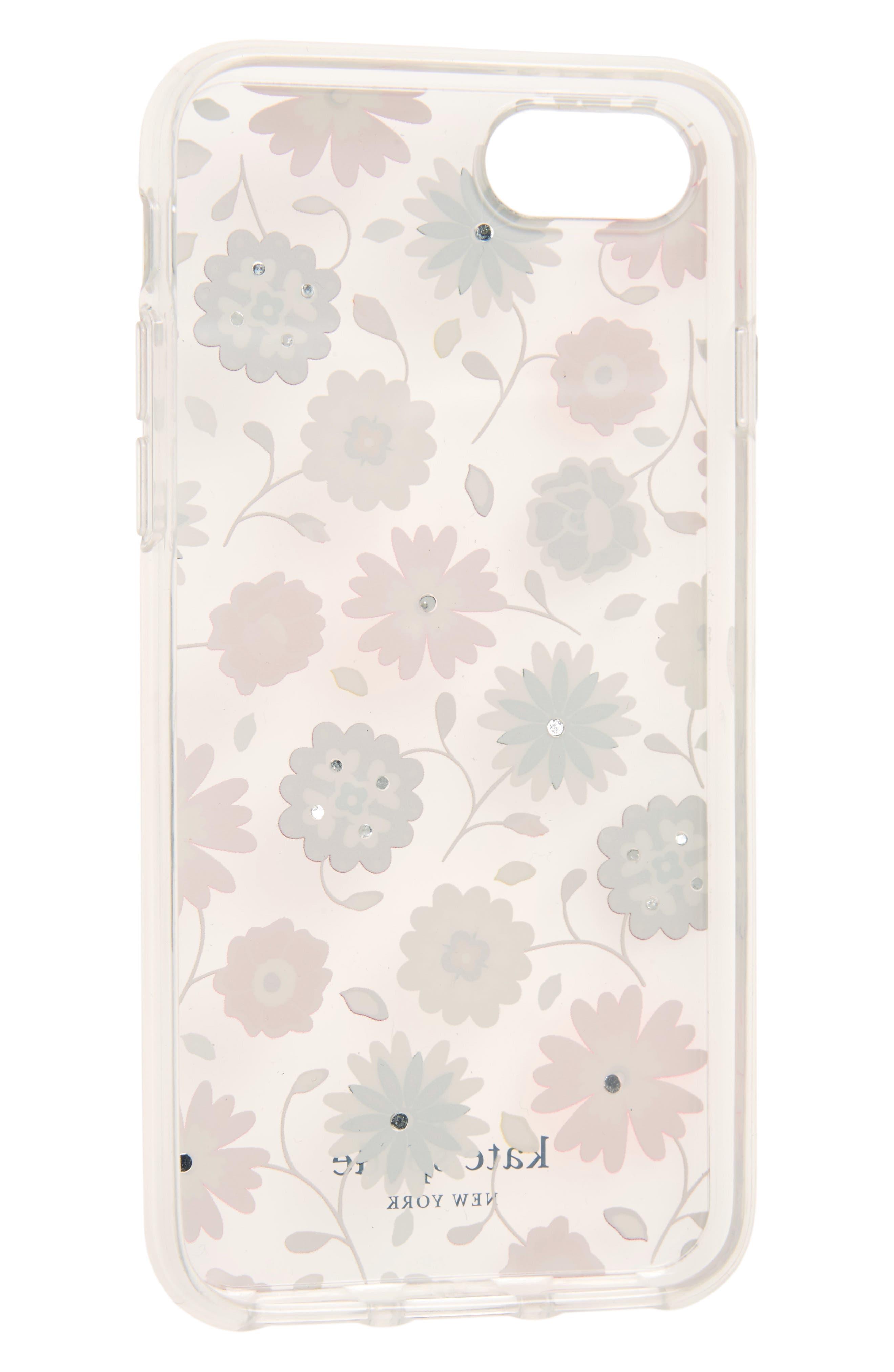 jeweled casa flora iPhone 7/8 & 7/8 Plus case,                             Alternate thumbnail 2, color,                             650