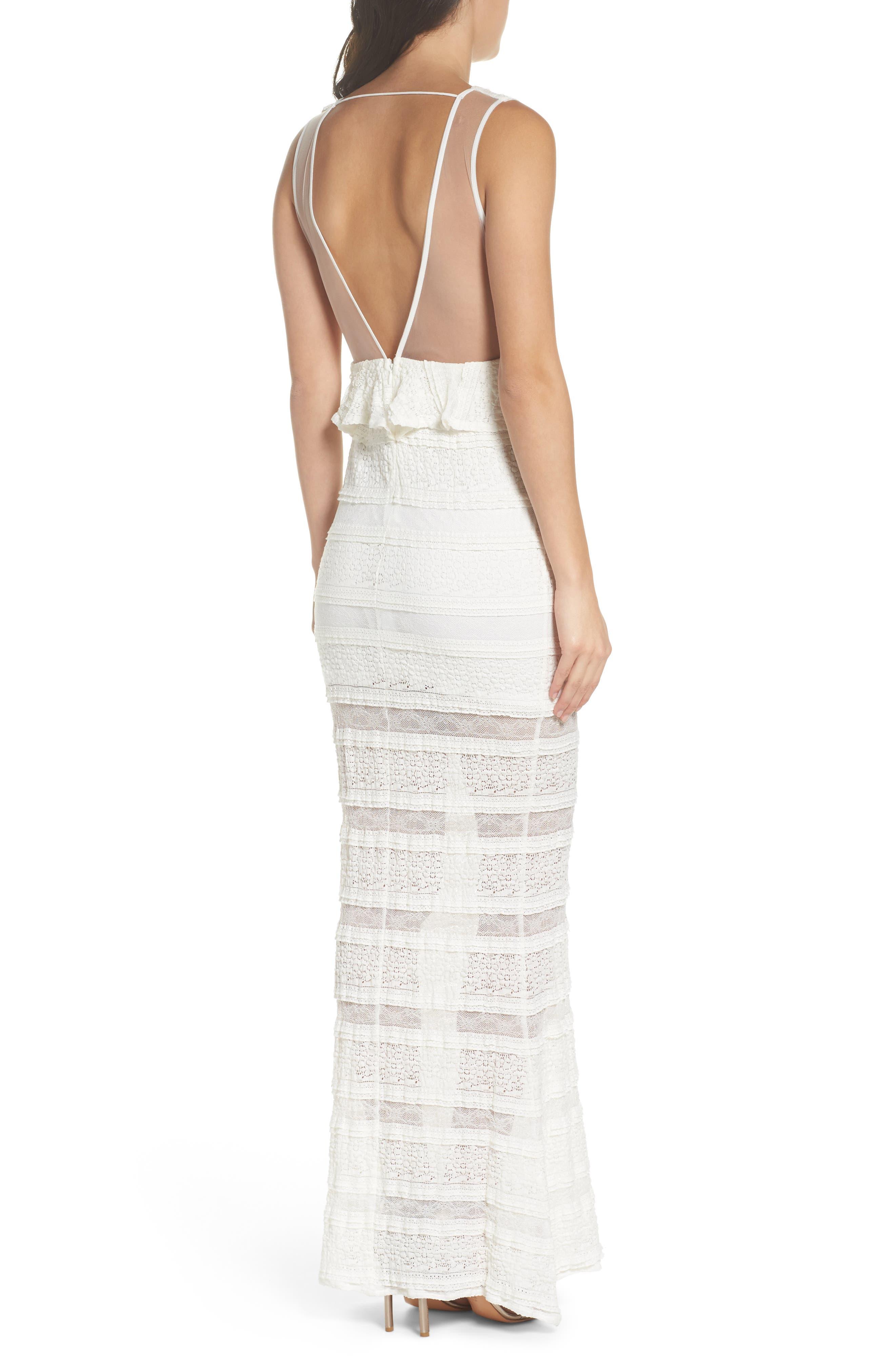 Makayla Peplum Lace Maxi Dress,                             Alternate thumbnail 2, color,                             901
