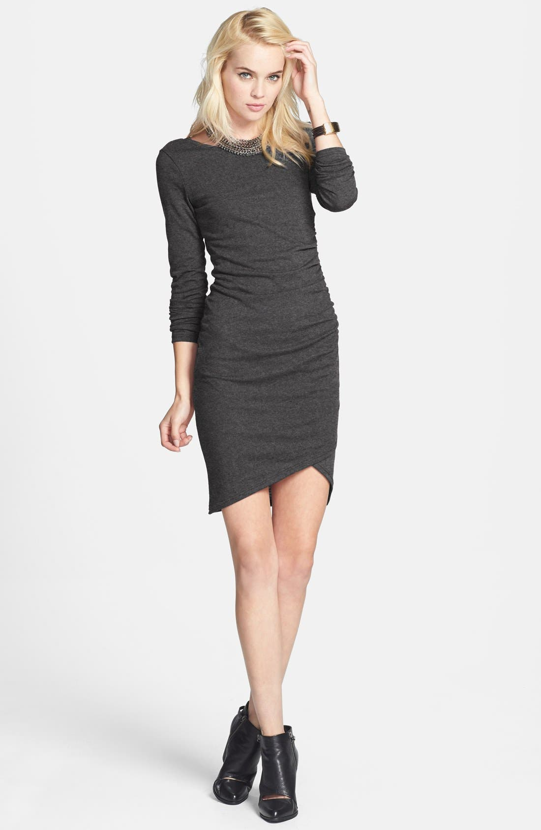 Ruched Long Sleeve Dress,                             Main thumbnail 13, color,