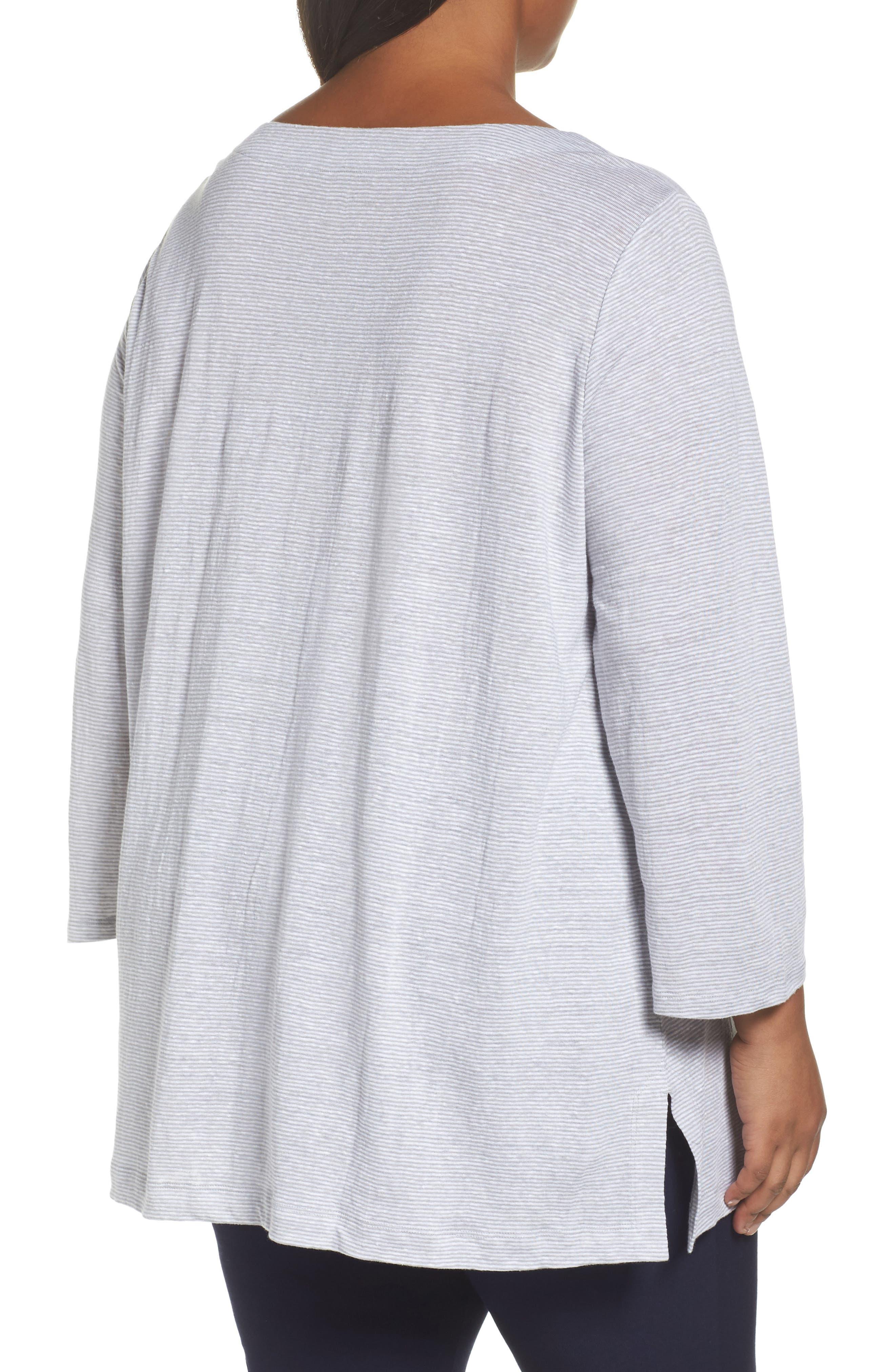 Organic Linen Bateau Neck Top,                             Alternate thumbnail 2, color,                             022