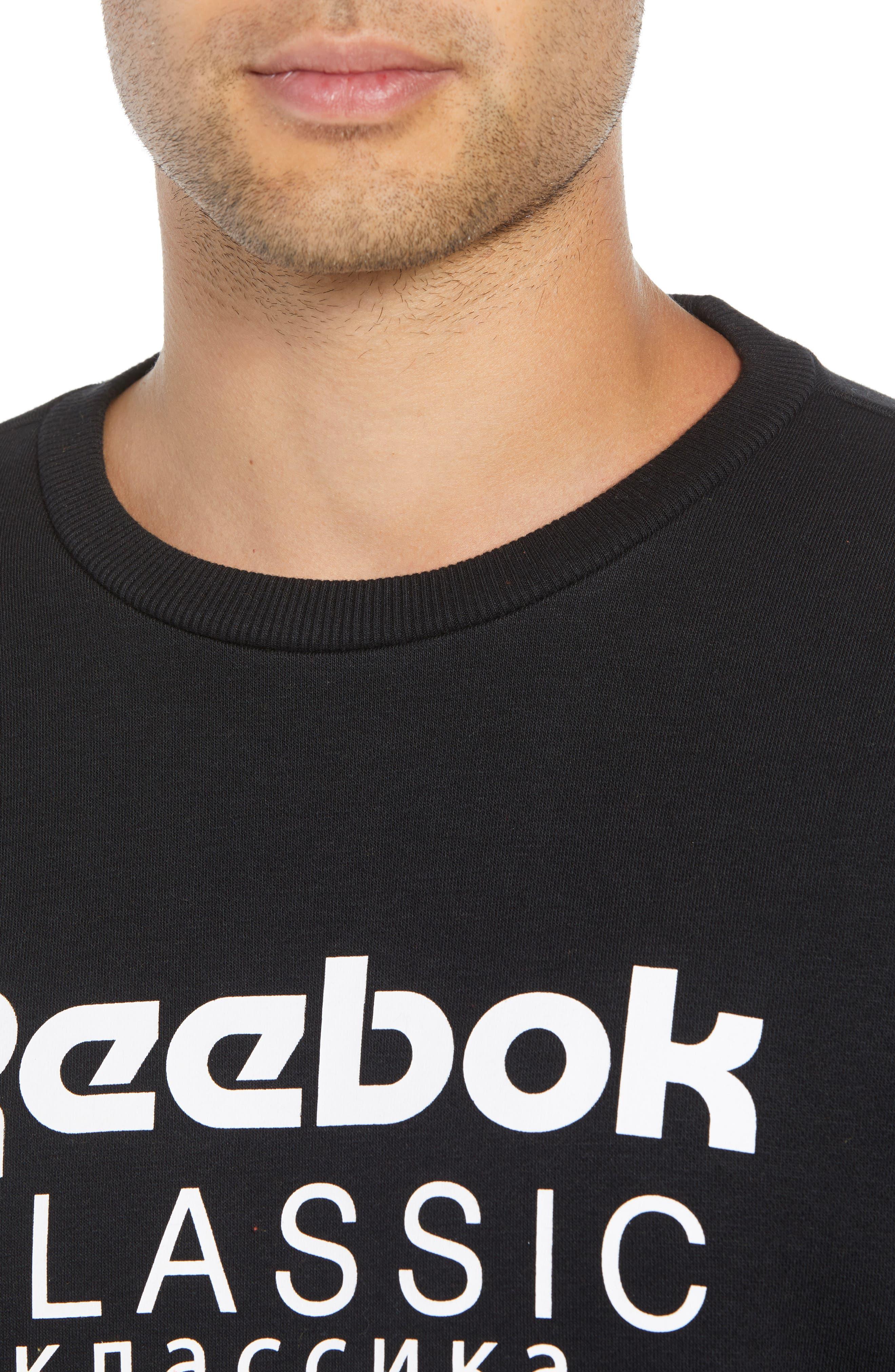 Crewneck Logo Sweatshirt,                             Alternate thumbnail 4, color,                             BLACK