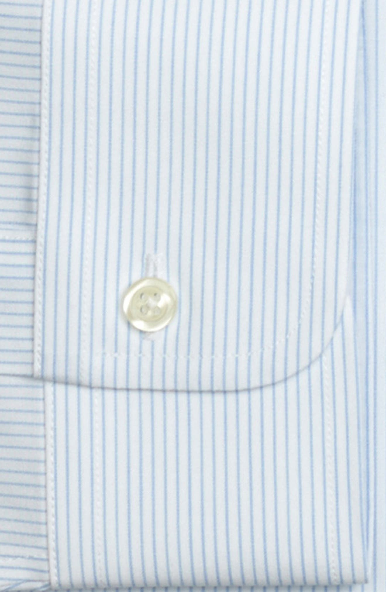 Regular Fit Stripe Dress Shirt,                             Alternate thumbnail 2, color,                             LIGHT/ PASTEL BLUE