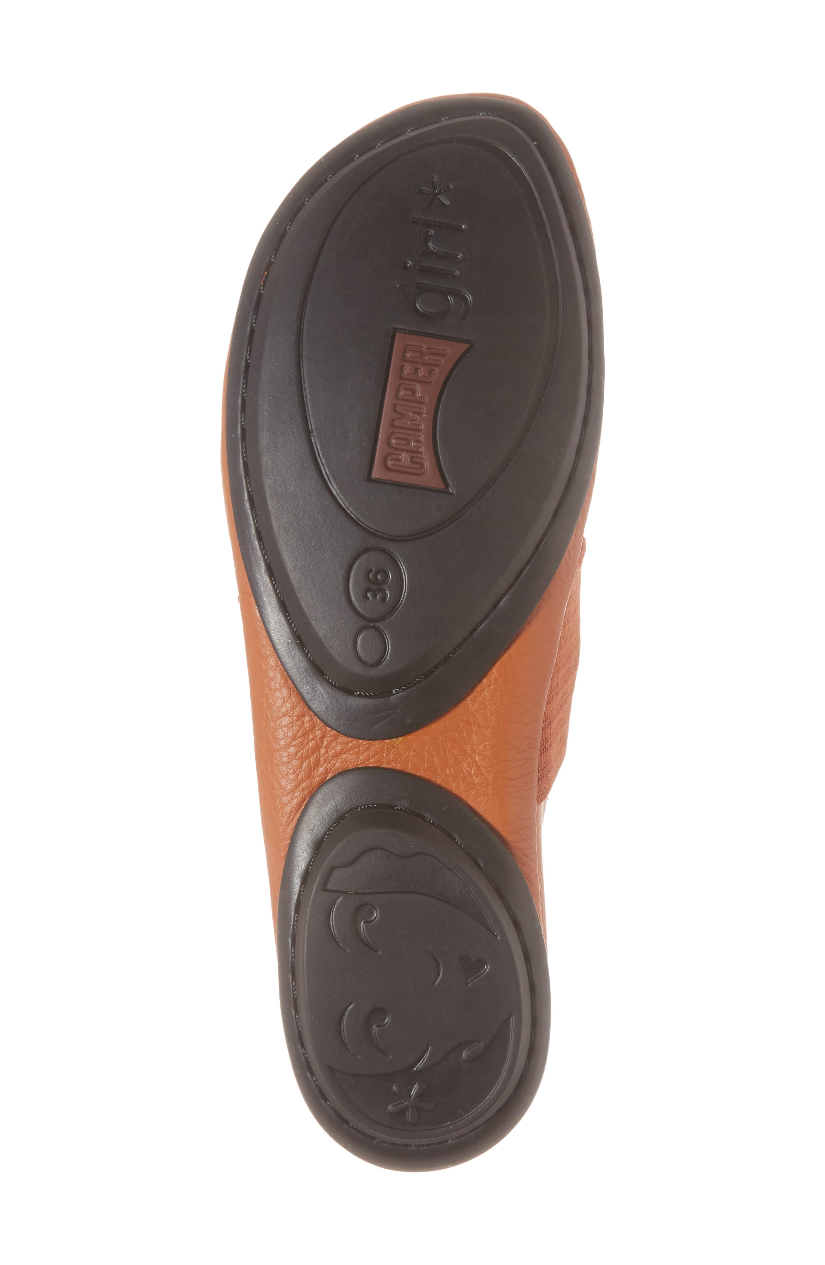 Right Nina Ballet Flat,                             Alternate thumbnail 6, color,                             RUST/COPPER LEATHER