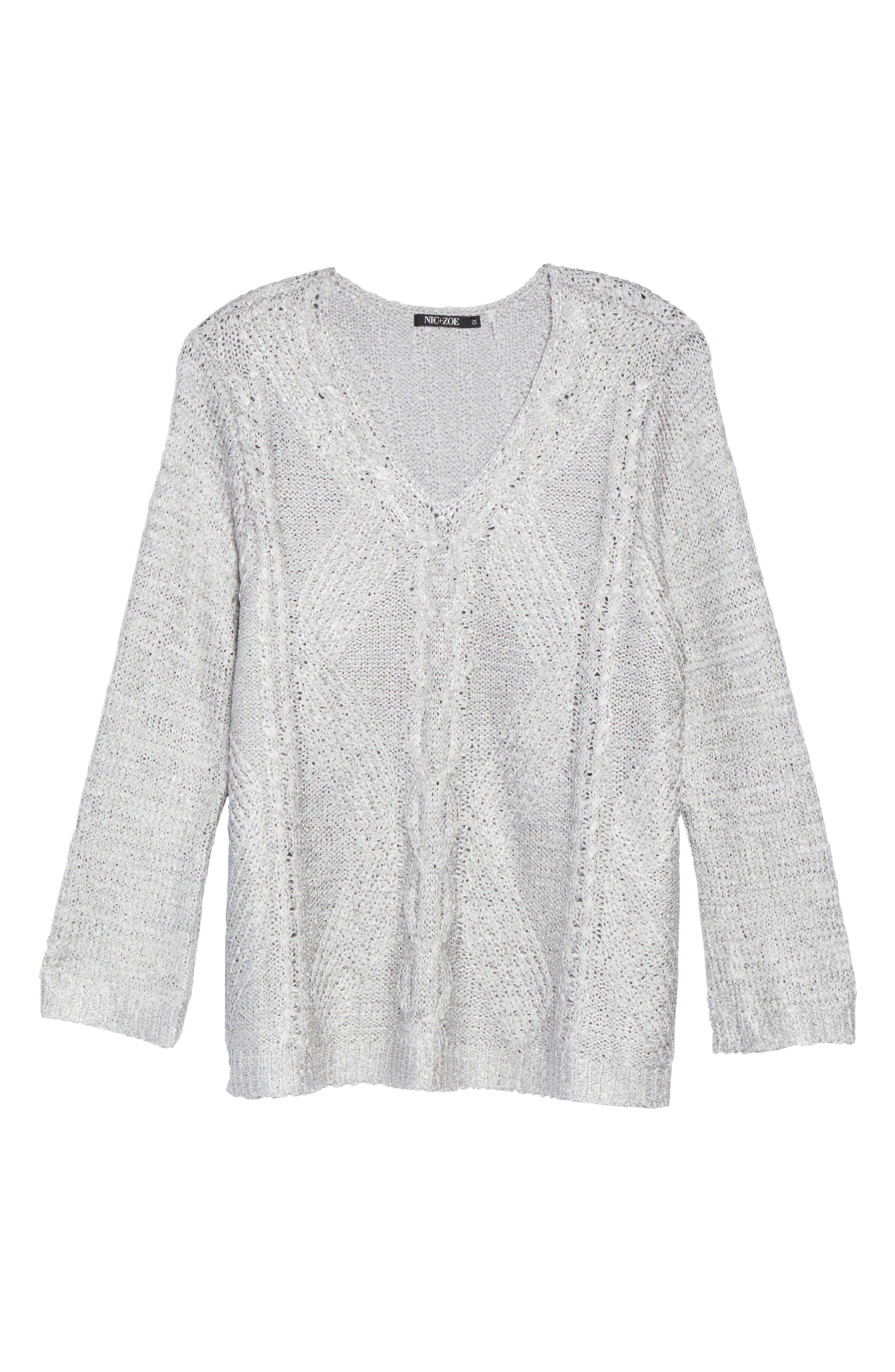 Cable Wave Sweater,                             Alternate thumbnail 11, color,